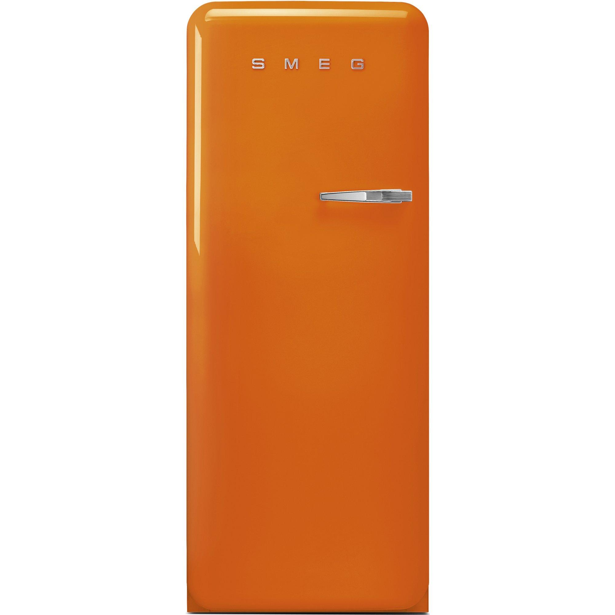 Smeg Vänsterhängt Kylskåp i 50-tals Retrodesign Orange