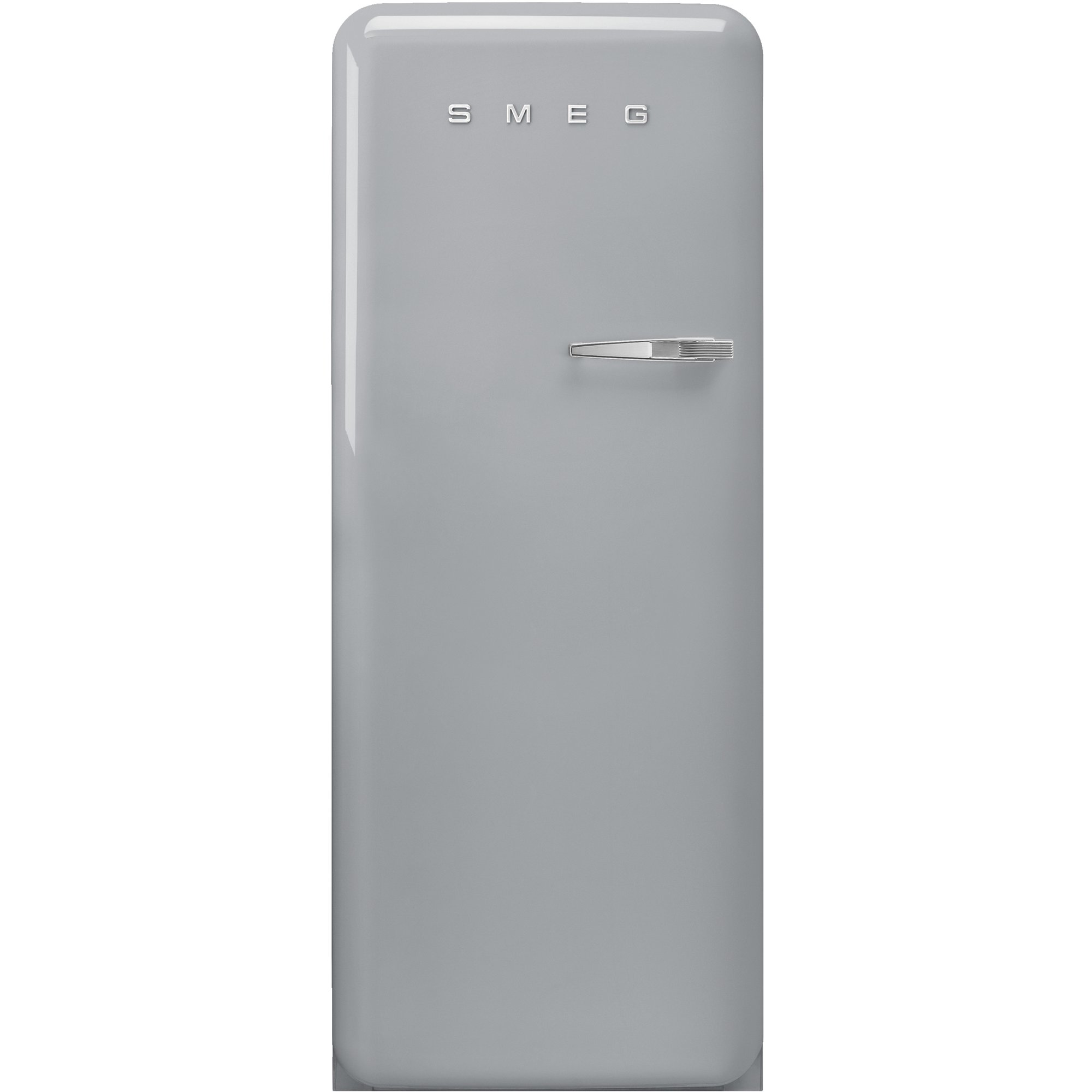 Smeg Vänsterhängt Kylskåp i 50-tals Retrodesign Silvergrå