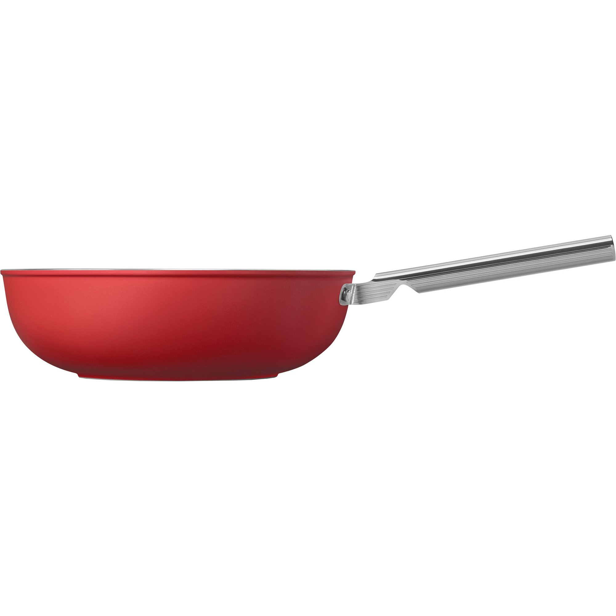Smeg Wokpanna 30 cm röd