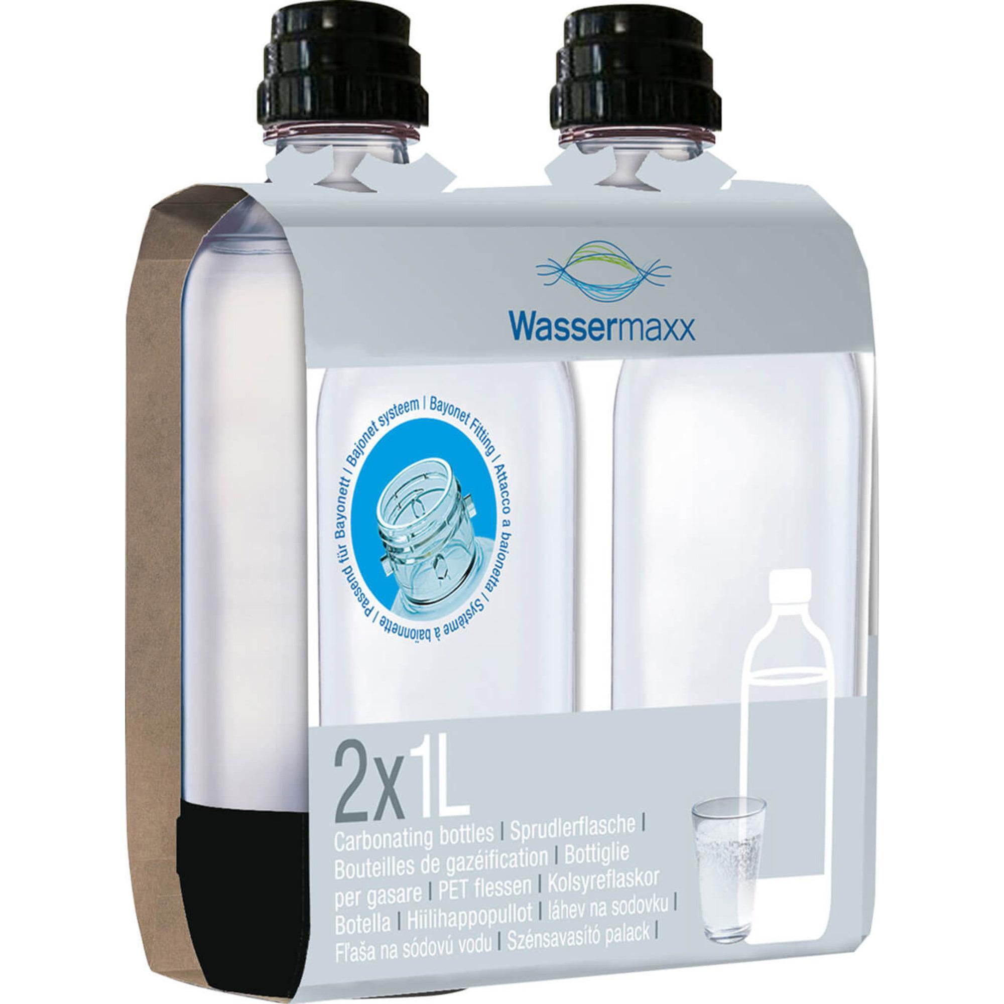 SodaStream Flaskor 2 st 1L till Wassermaxx