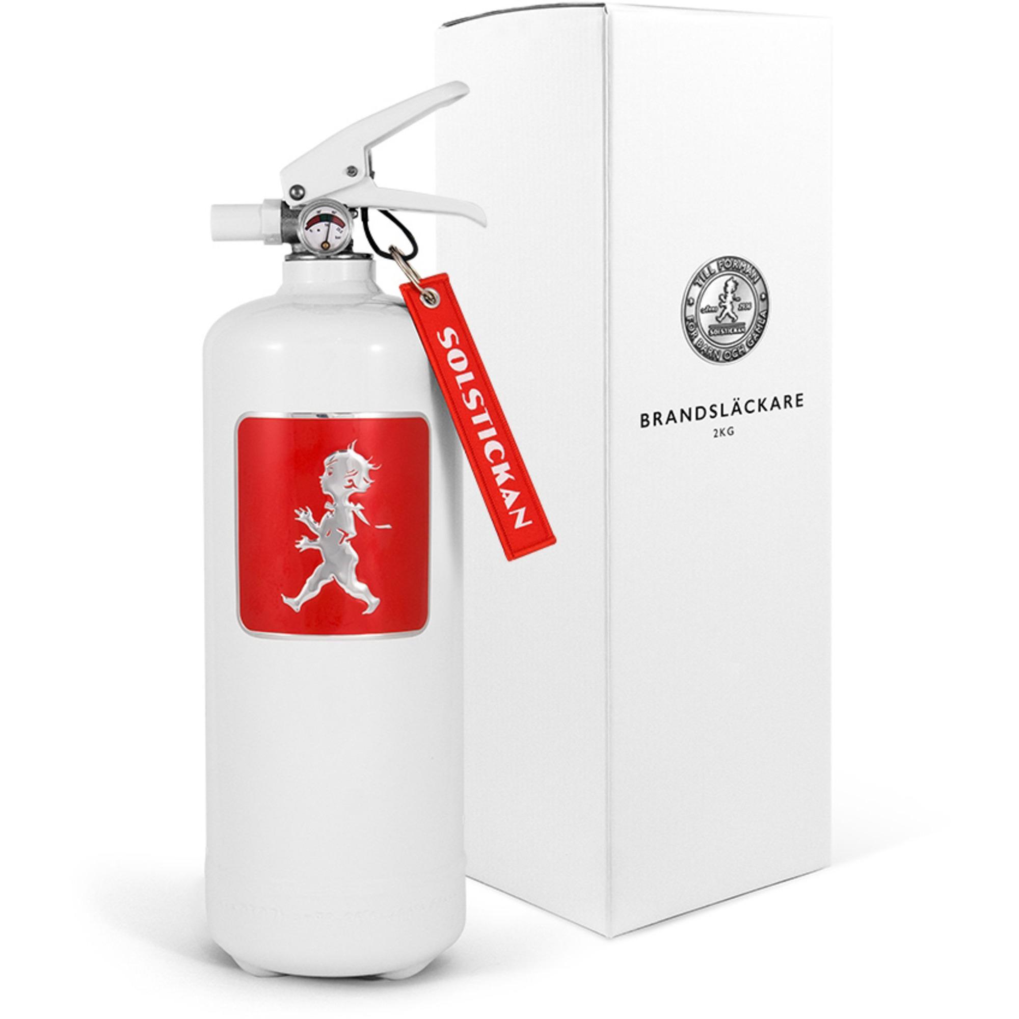 Solstickan Design Brandsläckare 2kg Vit med Rött Emblem