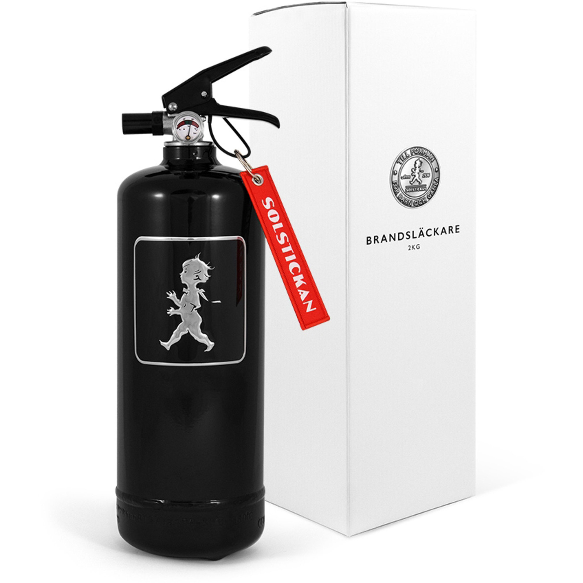 Solstickan Design Brandsläckare 2kg Svart med Svart Emblem