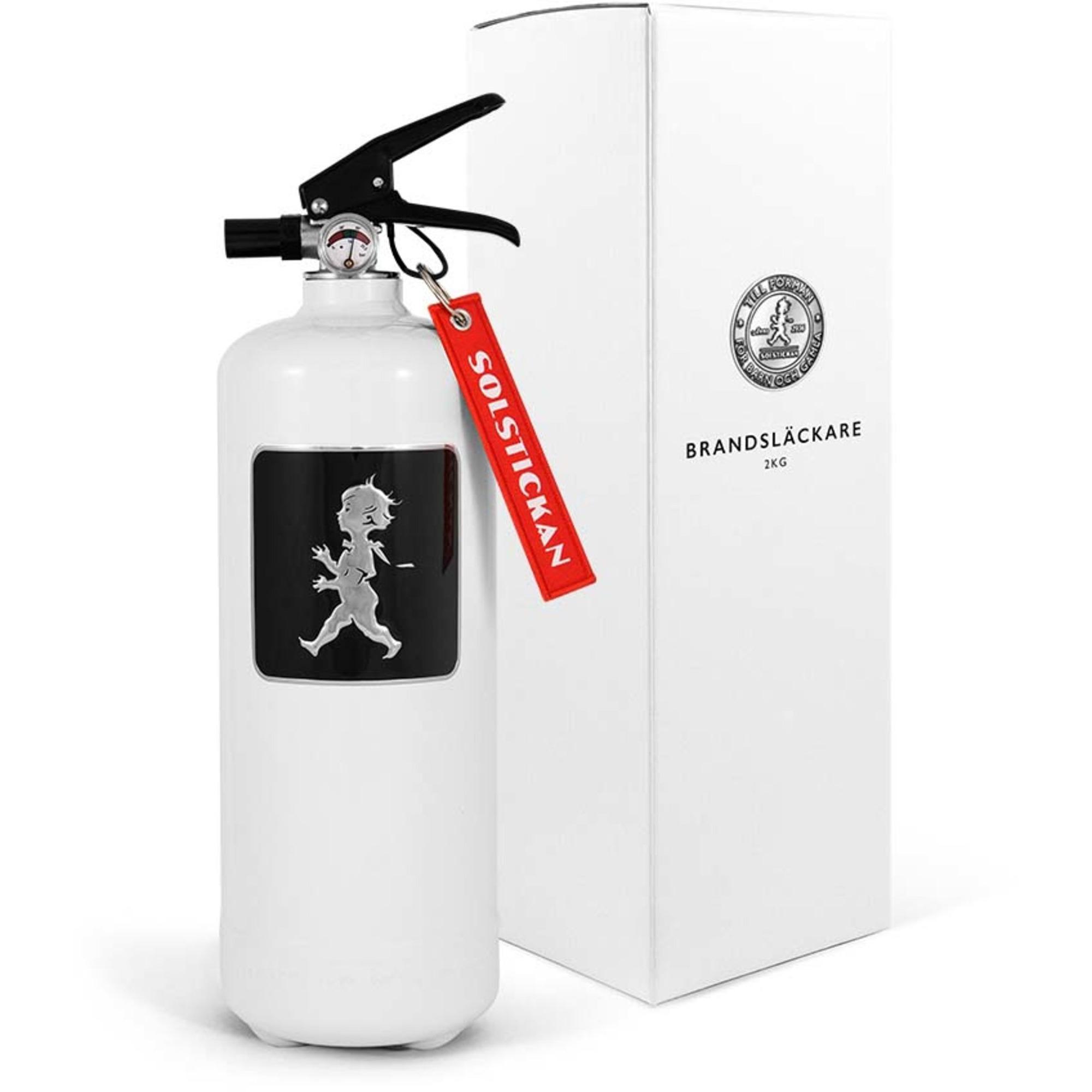Solstickan Design Brandsläckare 2kg Vit med Svart Emblem