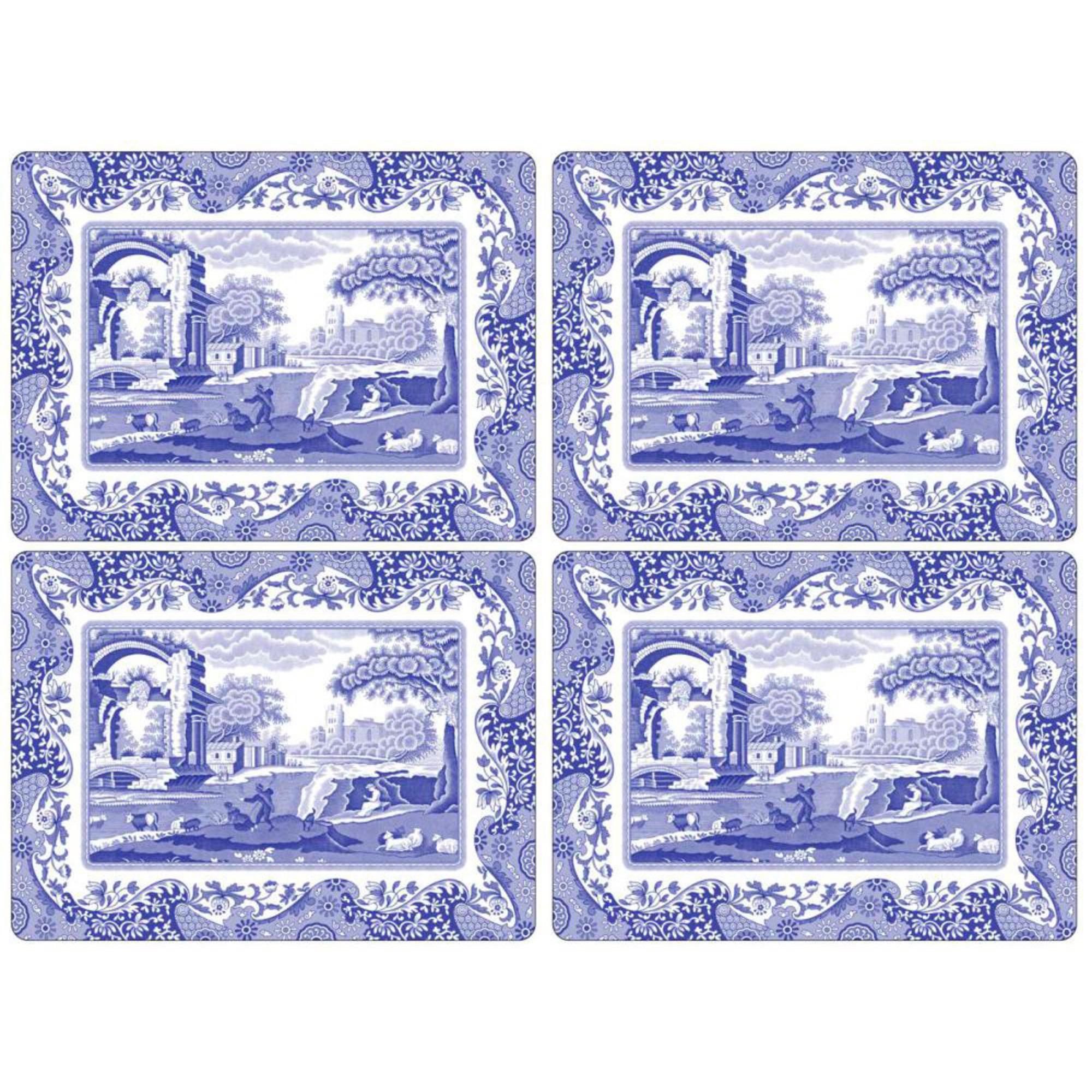 Spode Blue Italian Bordsunderlägg 4-pack 40 x30 cm