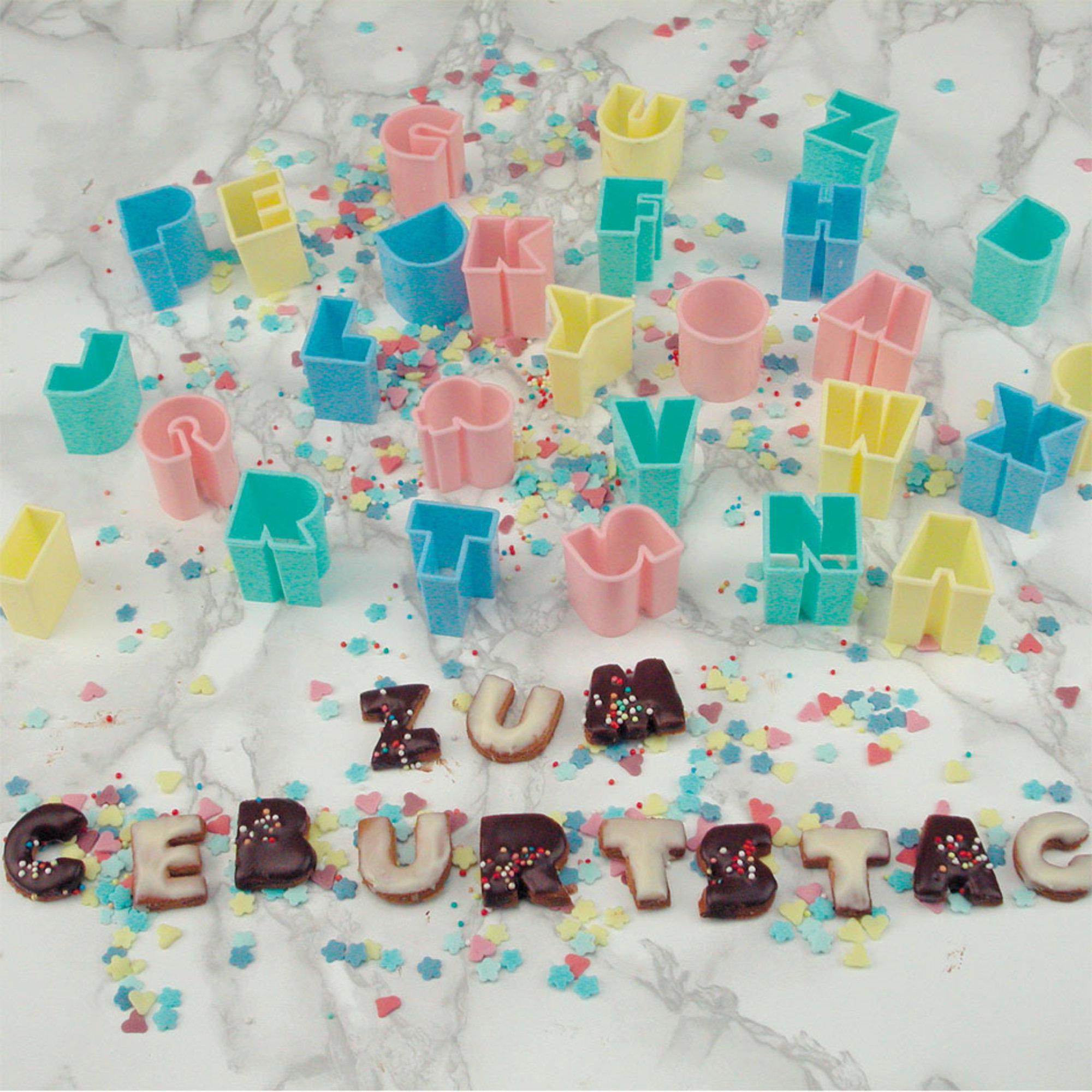 Städter Bakformar Alfabetet Plast