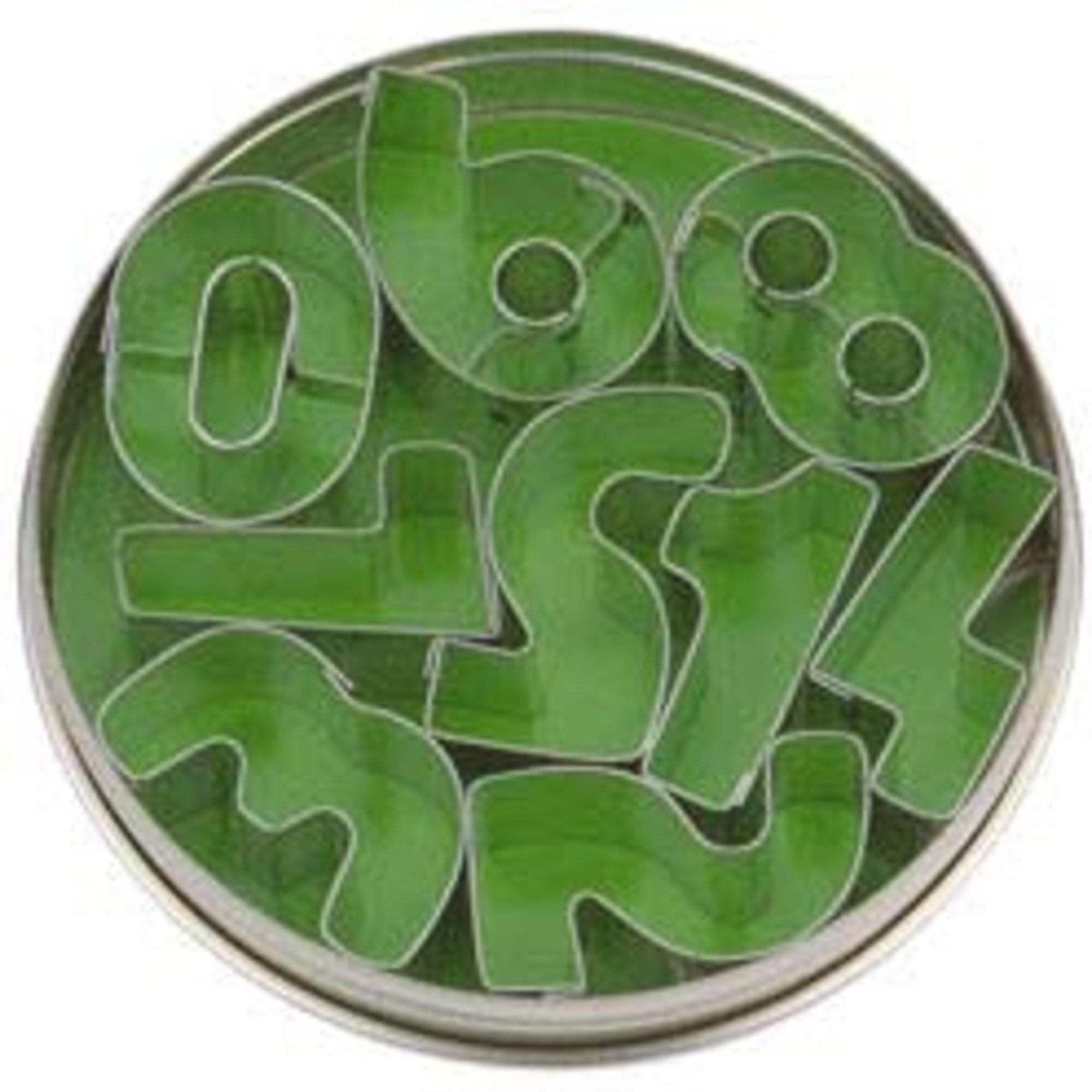 Städter Kakformar Siffror 35 cm – 9 st i plåtask