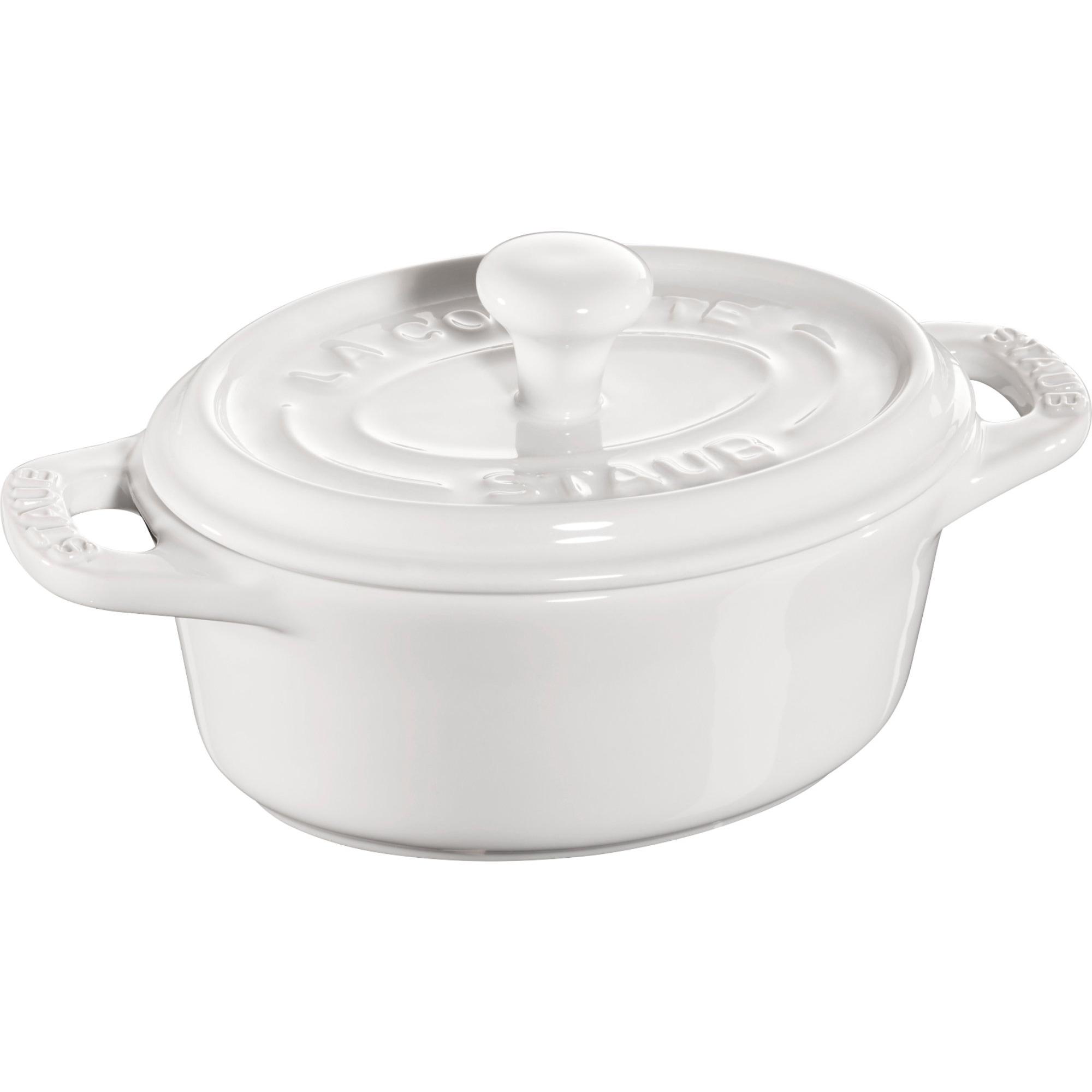 Staub Ceramic Oval Minigryta Vit 11 cm 02 l