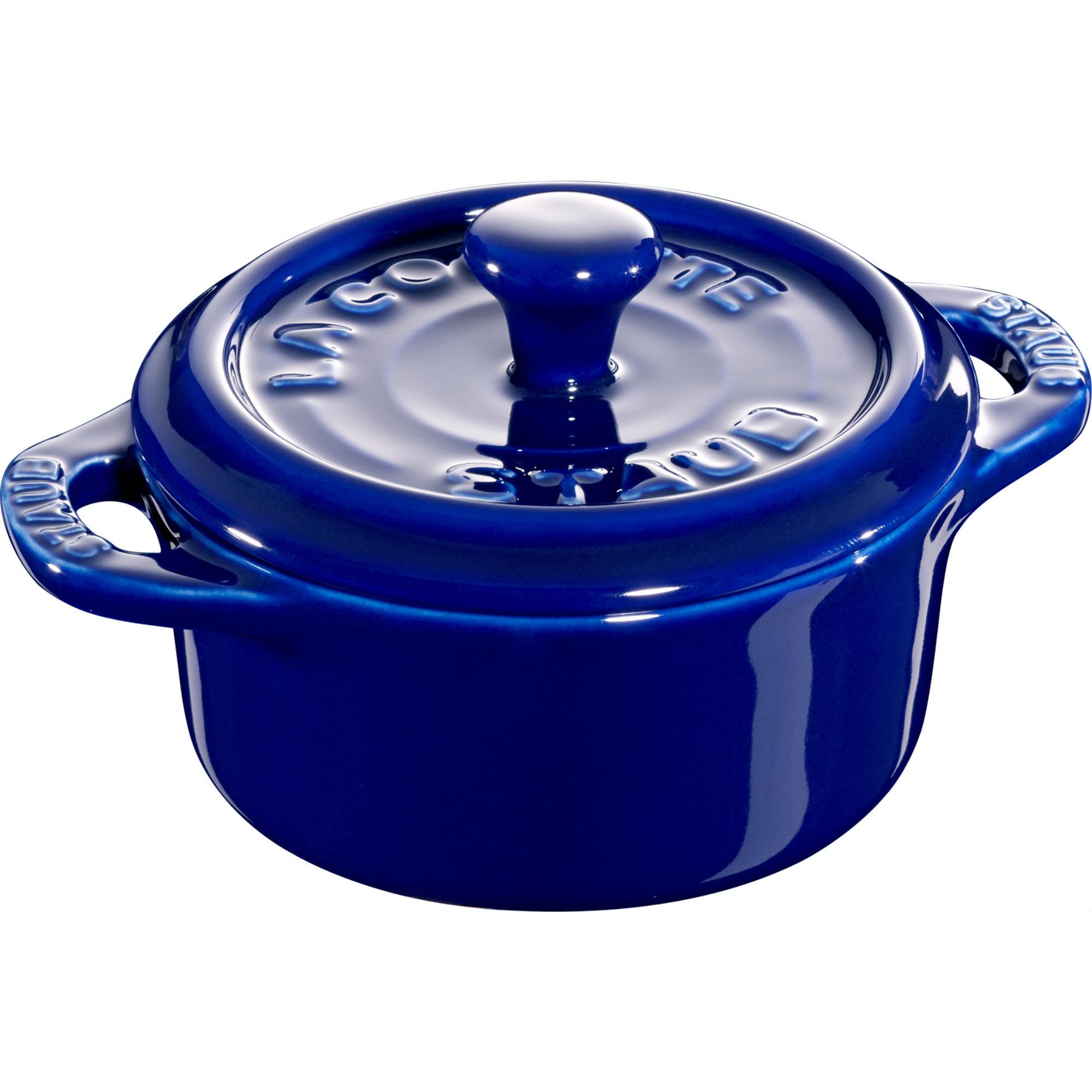 Staub Ceramic Rund Minigryta Blå 10 cm 02 l