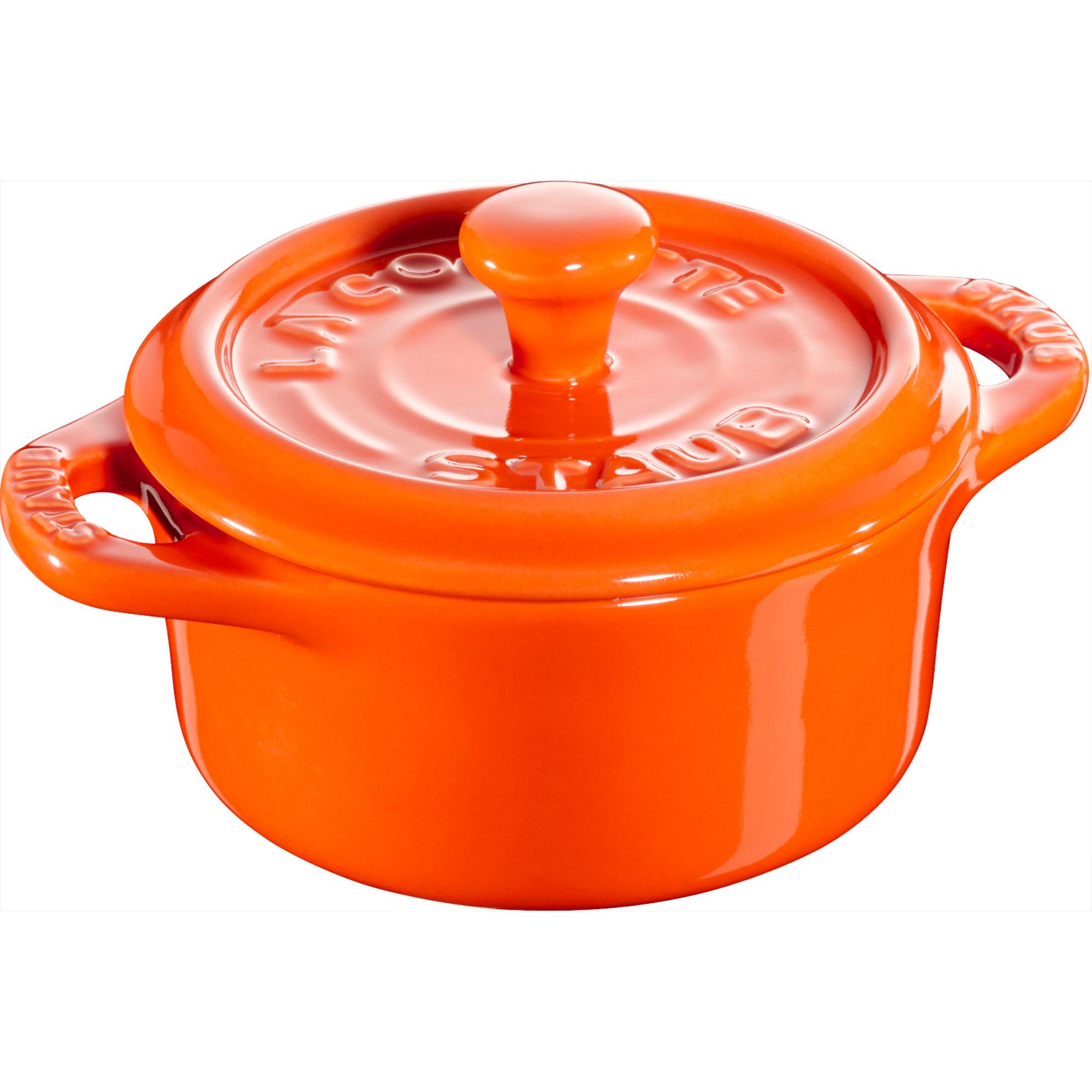 Staub Ceramic Rund Minigryta Orange 10 cm 02 l
