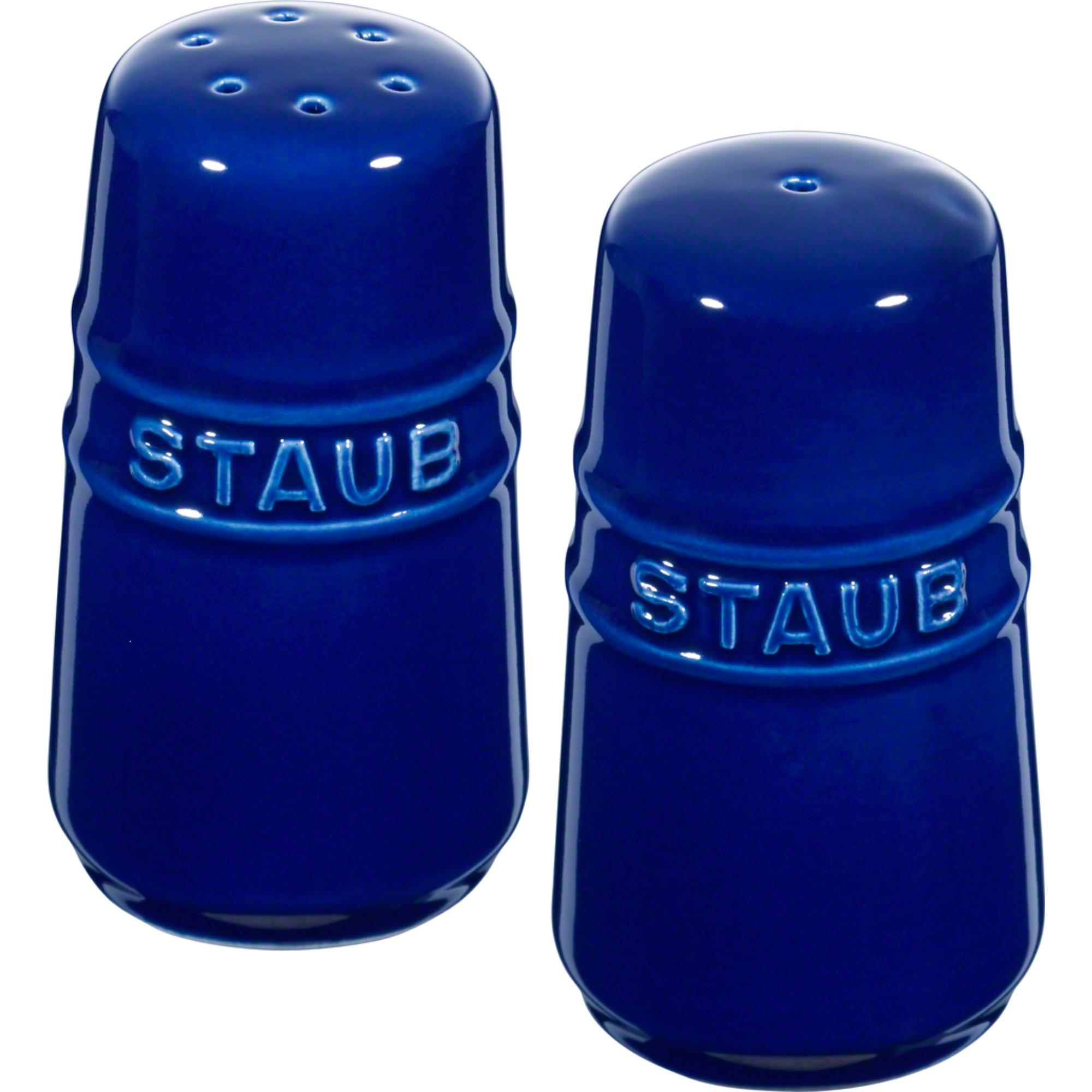 Staub Ceramic Salt & Peppar Set Blå 7 cm