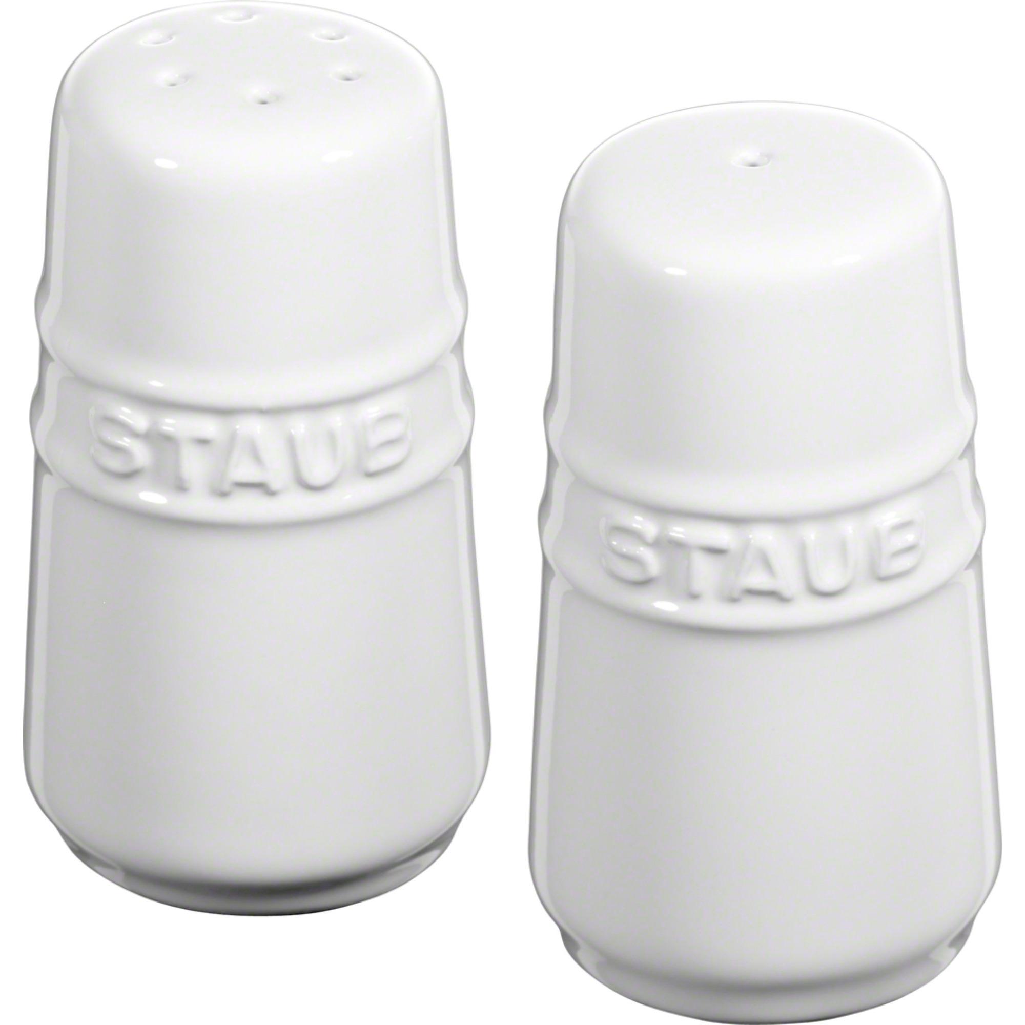 Staub Ceramic Salt & Peppar Set Vit 7 cm