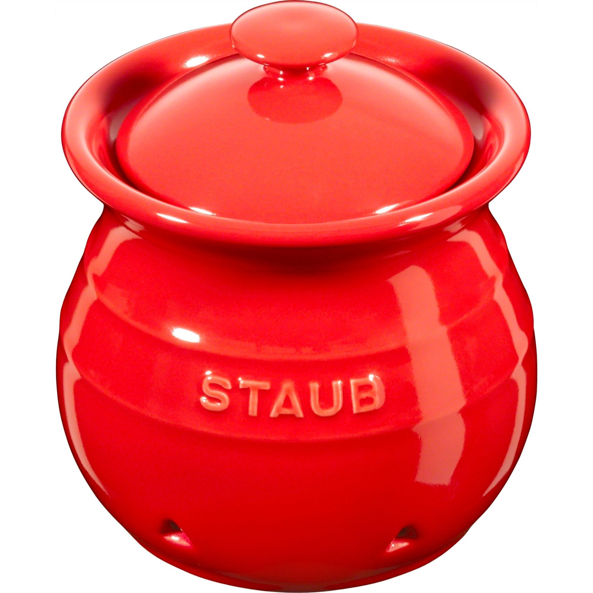Staub Vitlöksbehållare 11 cm röd