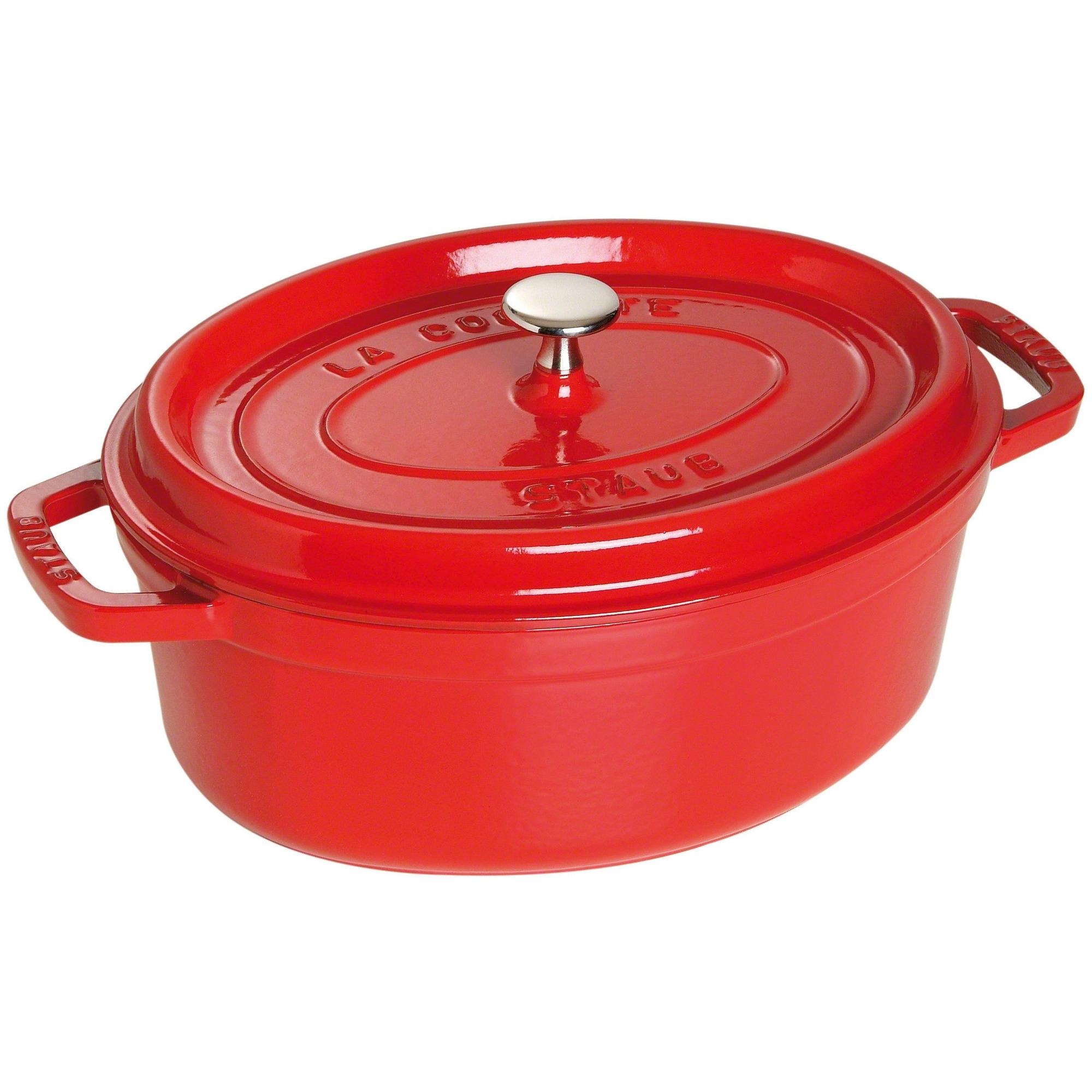 Staub Oval Gryta 29 cm 42 liter Röd