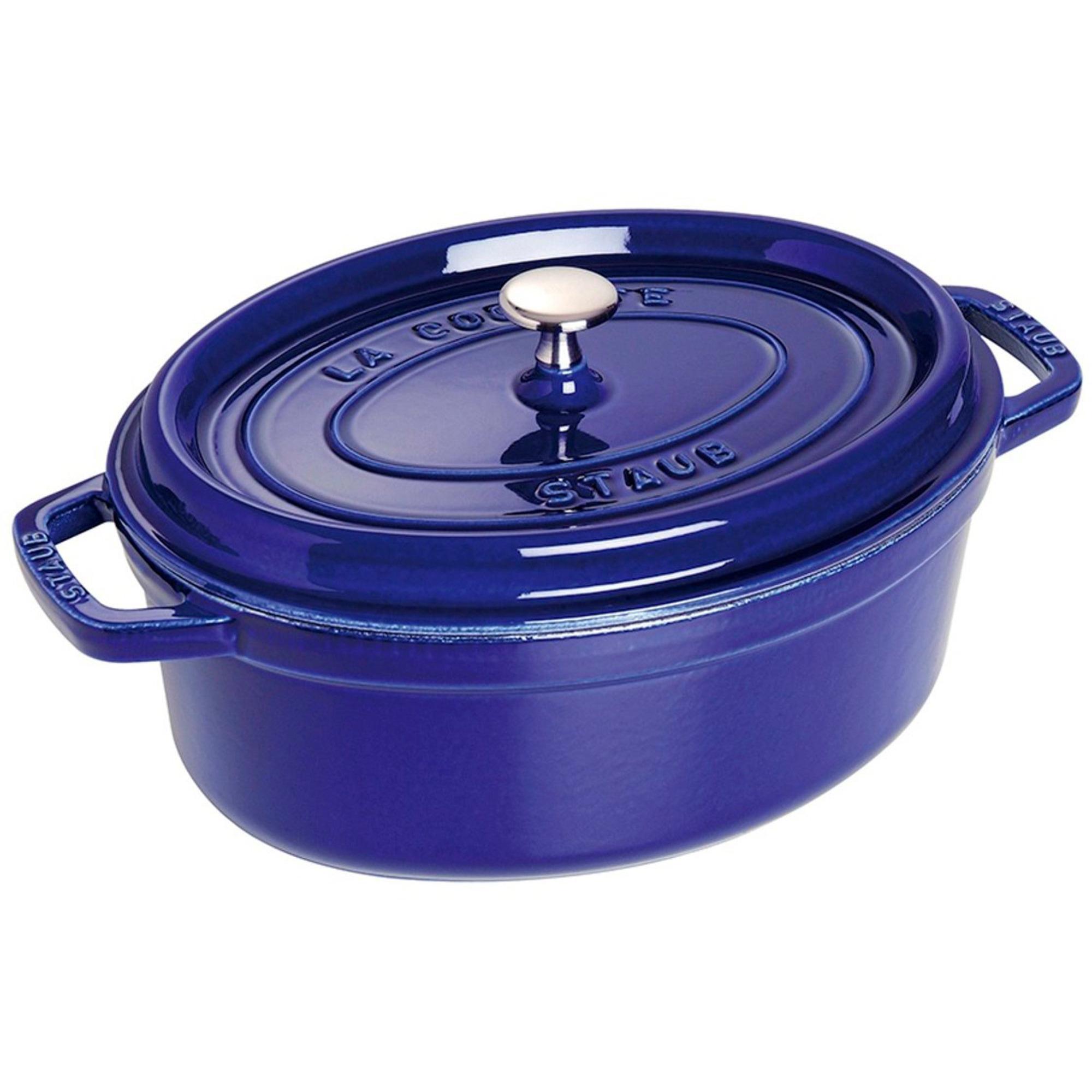 Staub Oval Gryta 29 cm 42 liter Blå
