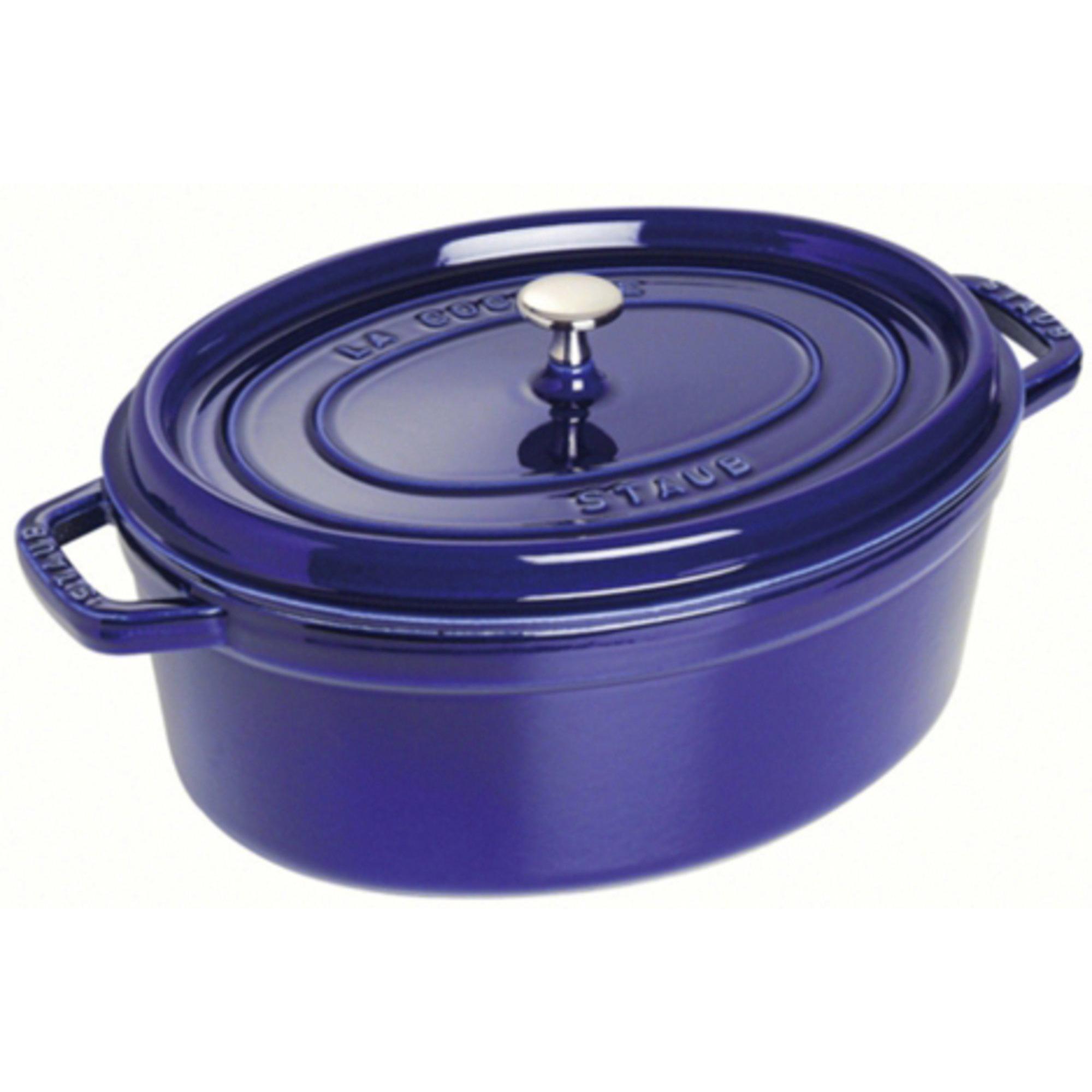 Staub Oval Gryta 31 cm 55 liter Blå