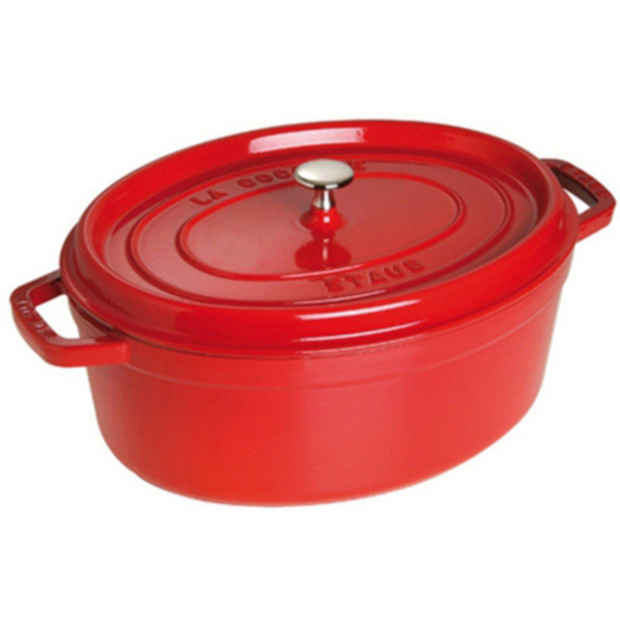 Staub Oval Gryta 33 cm 67 liter Röd
