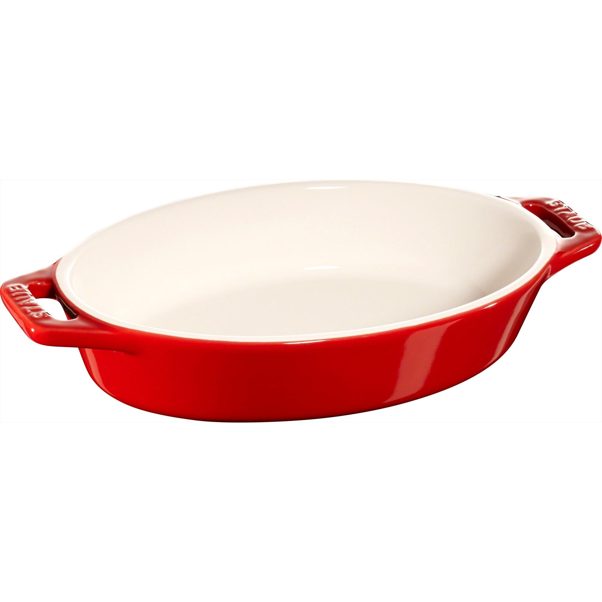 Staub Oval Form 17 cm Röd