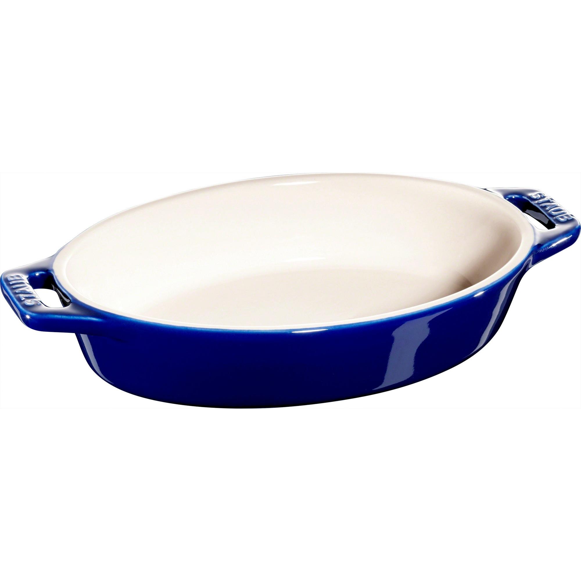 Staub Oval Form 17 cm Blå