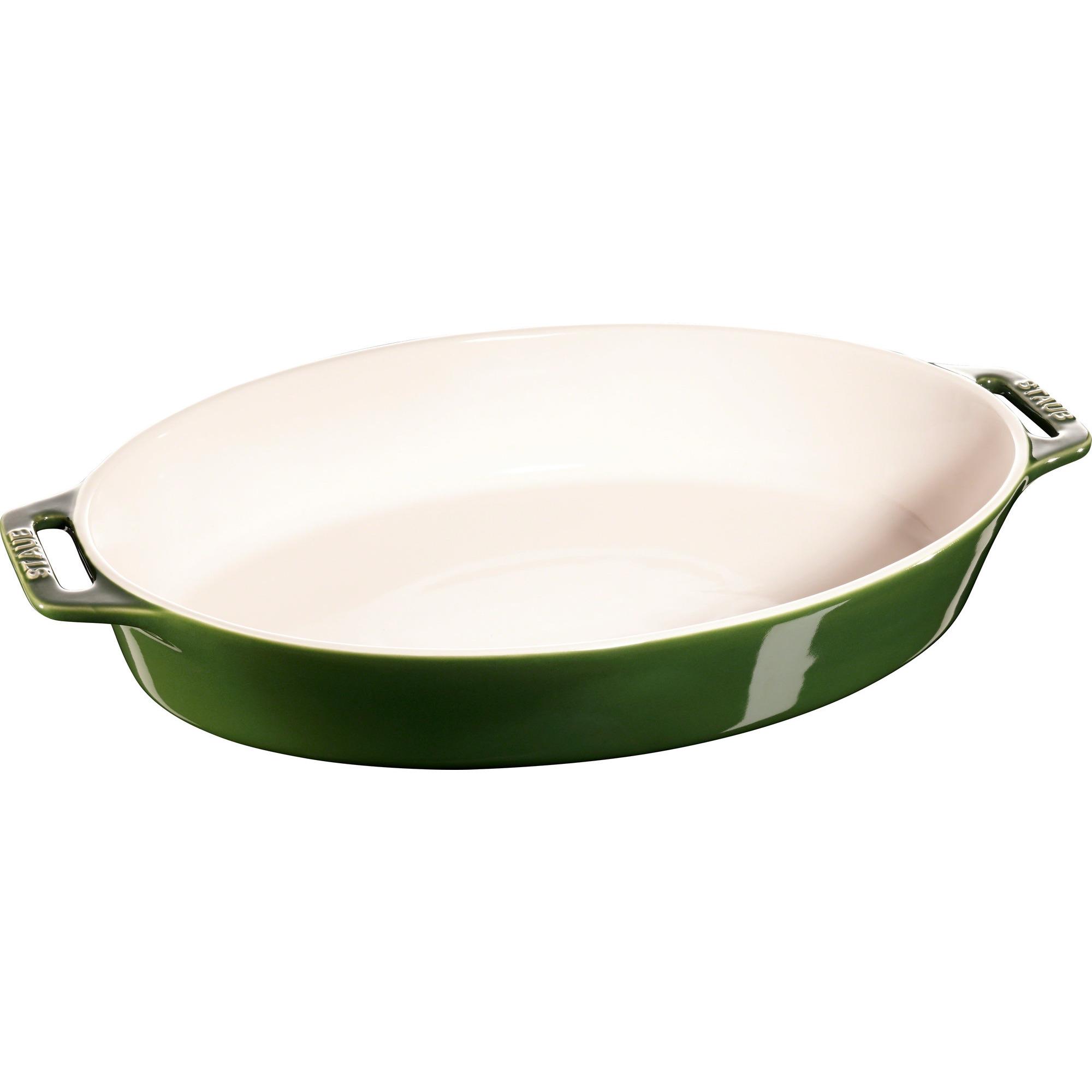Staub Oval Form 37 cm Grön