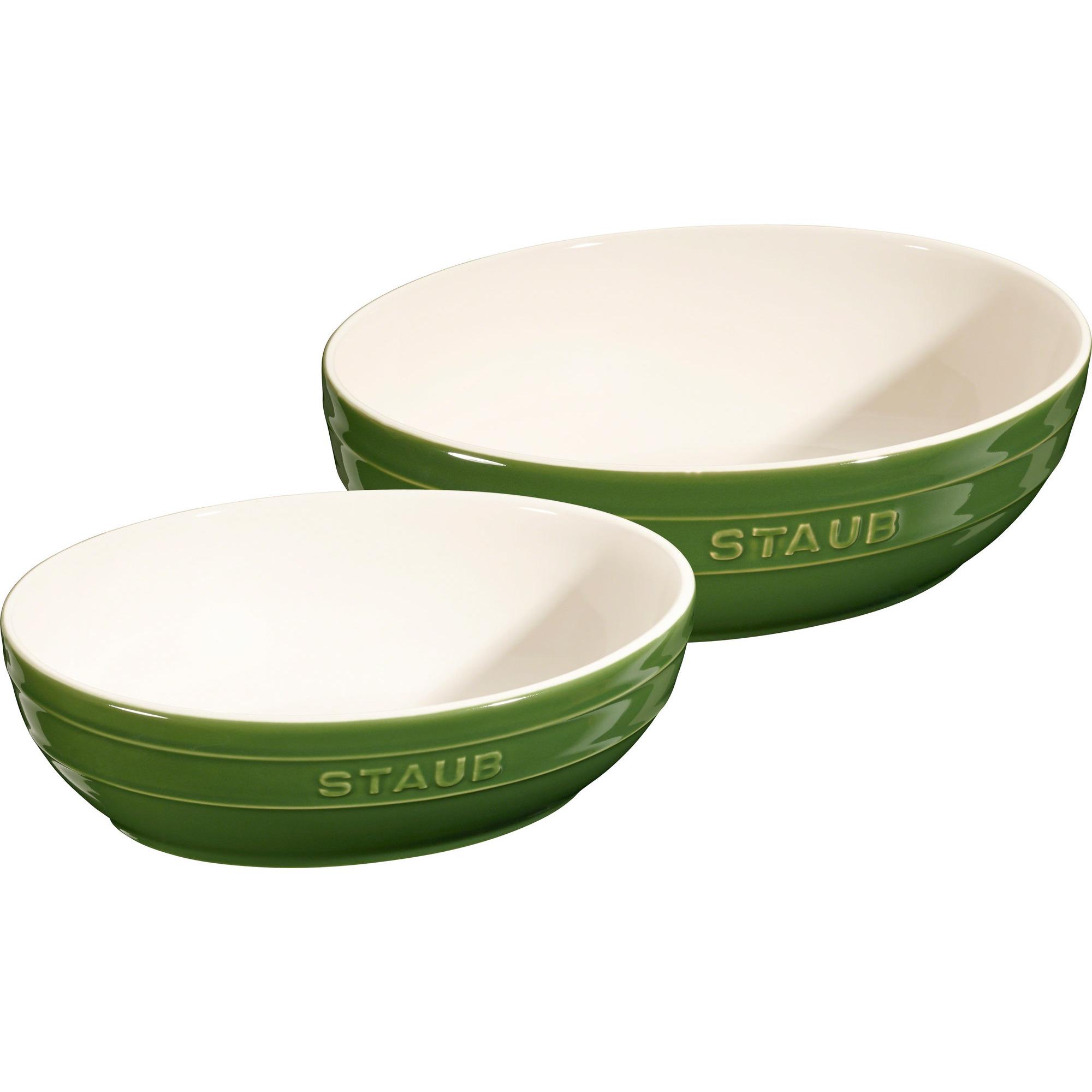 Staub Skålset Oval 23 & 27 cm Grön