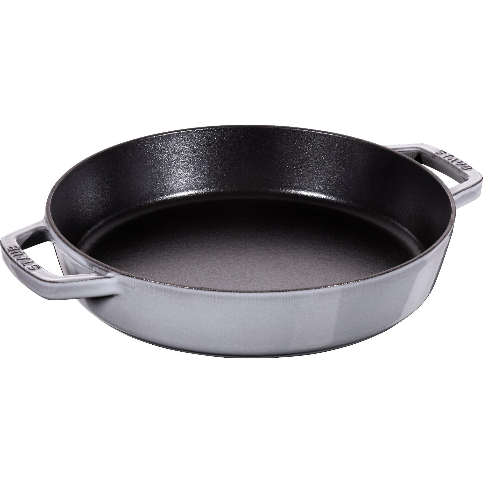 Staub Pans Series Sautépanna med Två Handtag Grå 26 cm