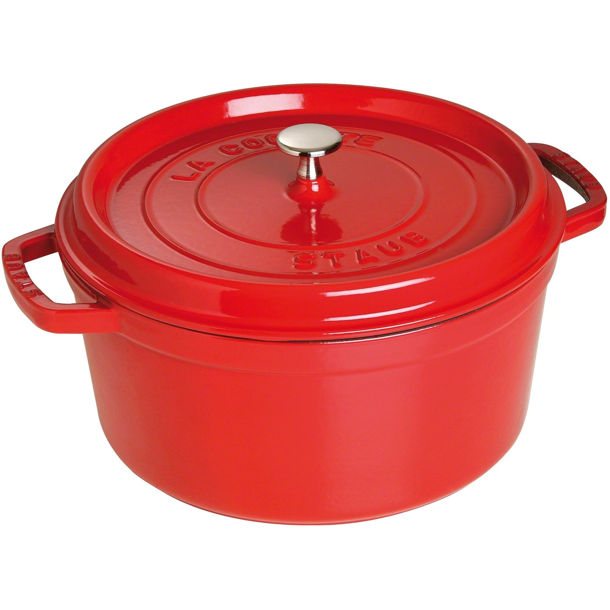 Staub Rund Gryta 28 cm 67 liter Röd