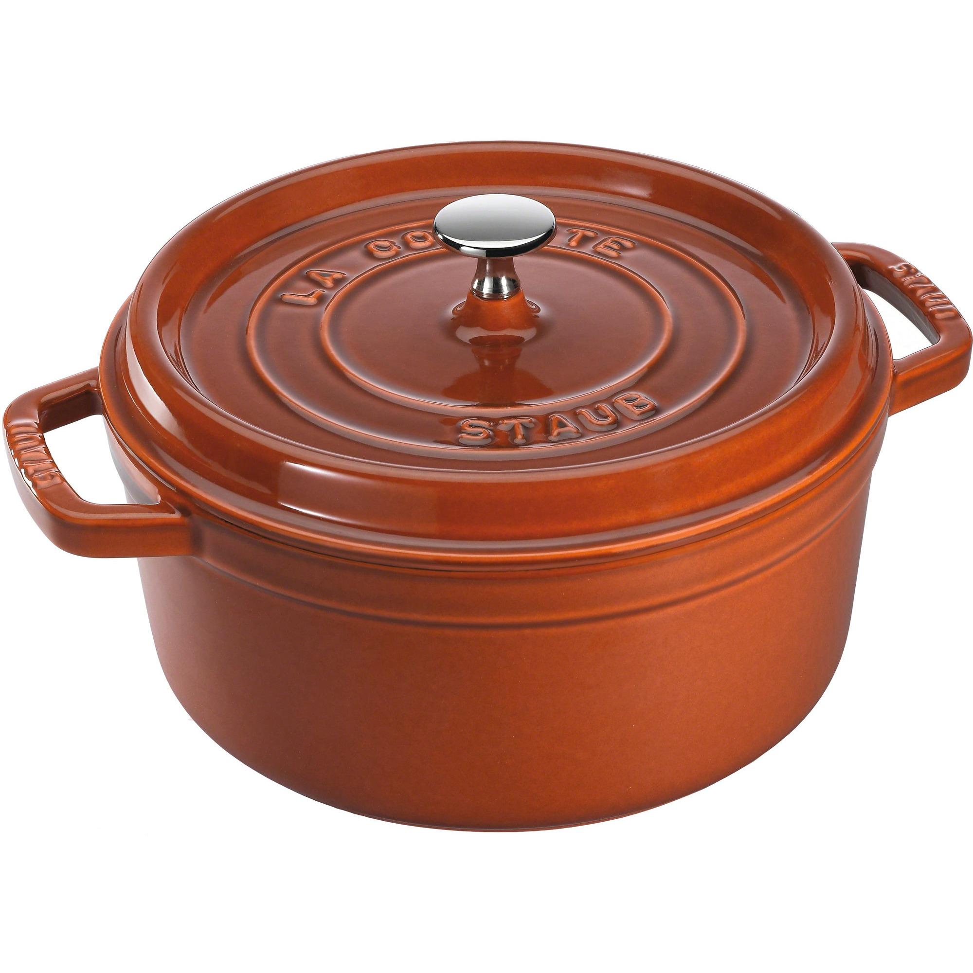 Staub Rund Gryta 28 cm 67 liter Cinnamon