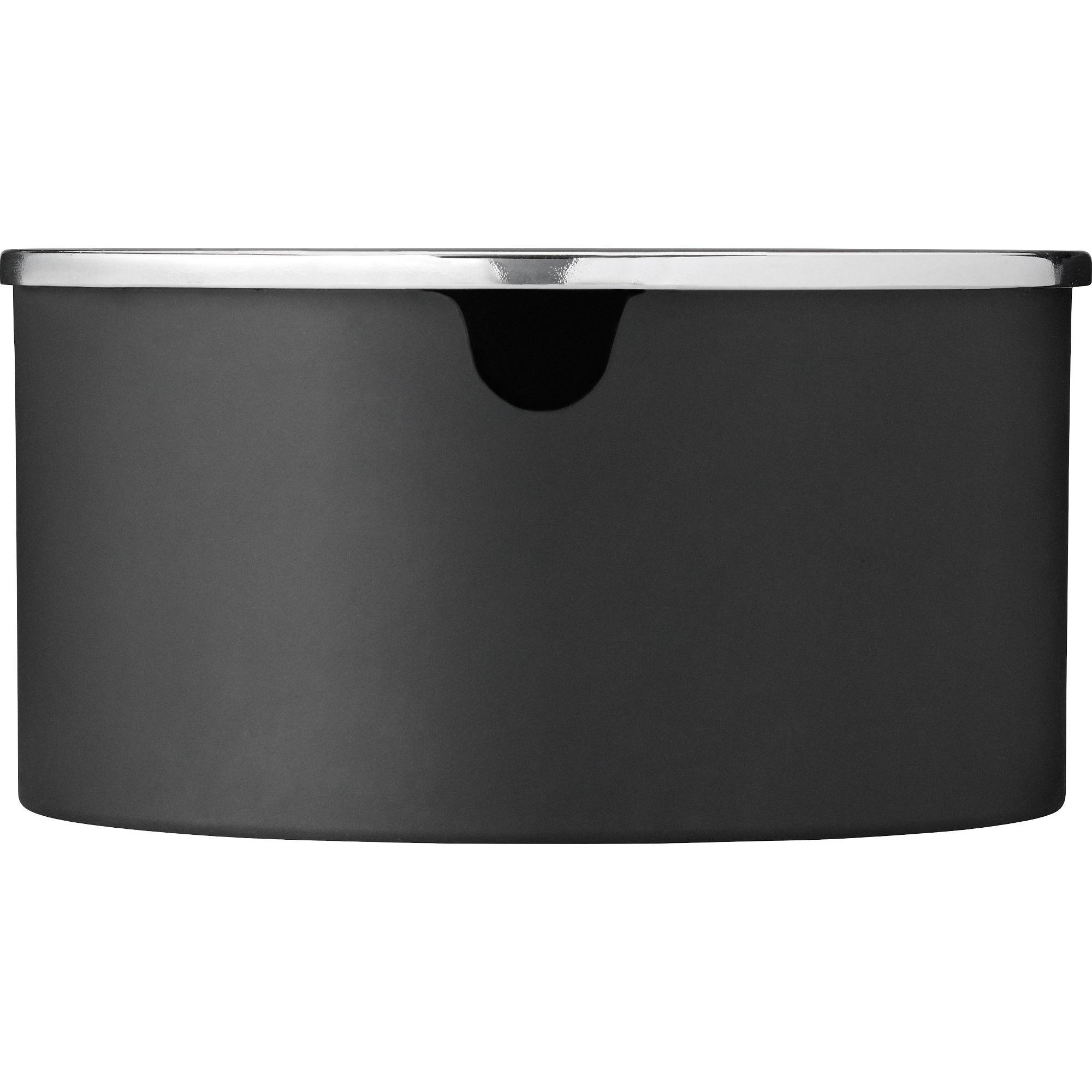 Stelton EM77 Reverse sockerskål – matt svart/mirror