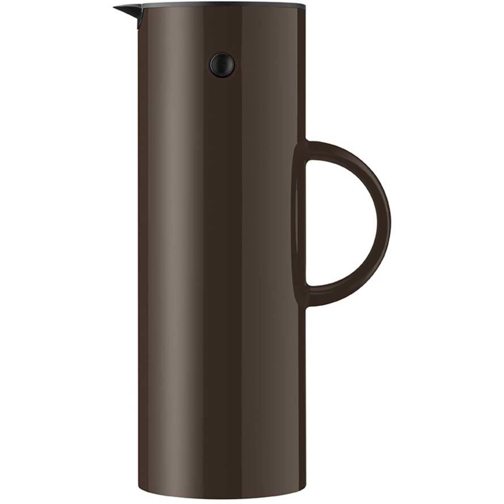 Stelton EM77 Termoskanna 1 liter Dark mocha