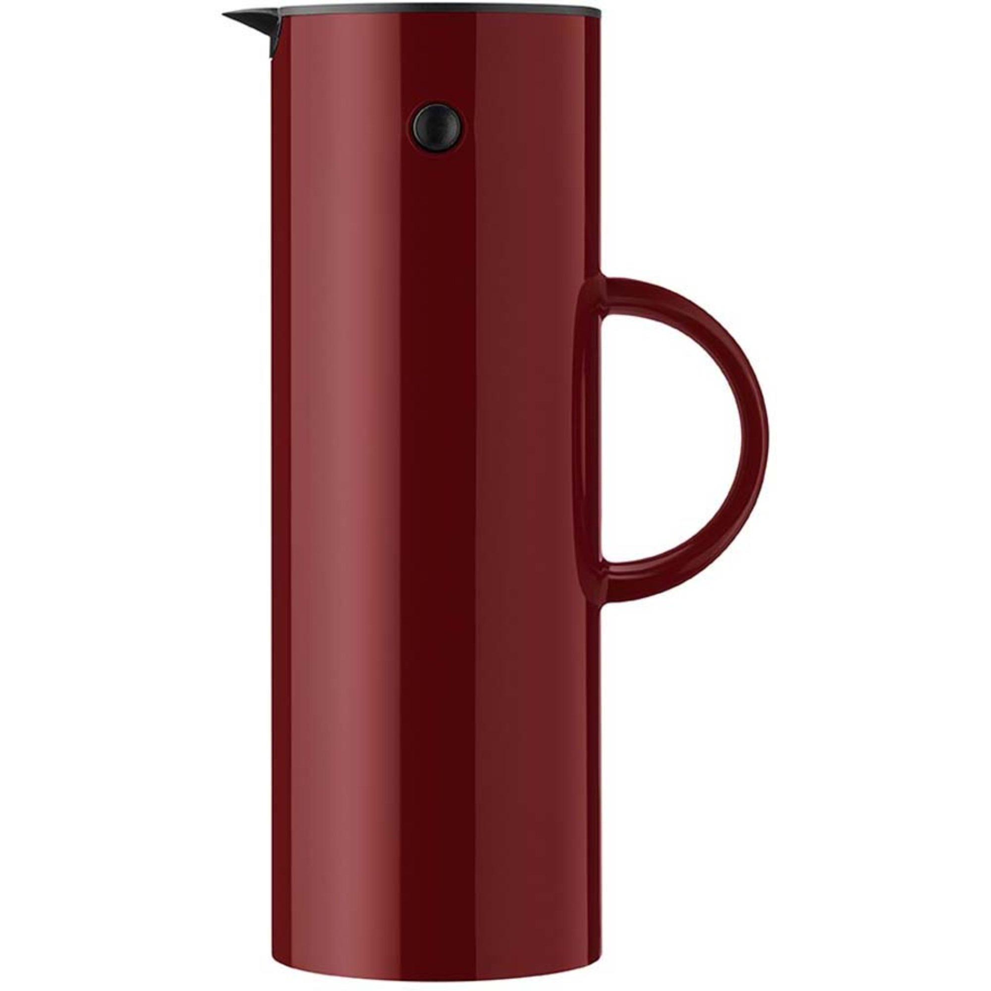 Stelton EM77 Termoskanna 1 liter Warm maroon