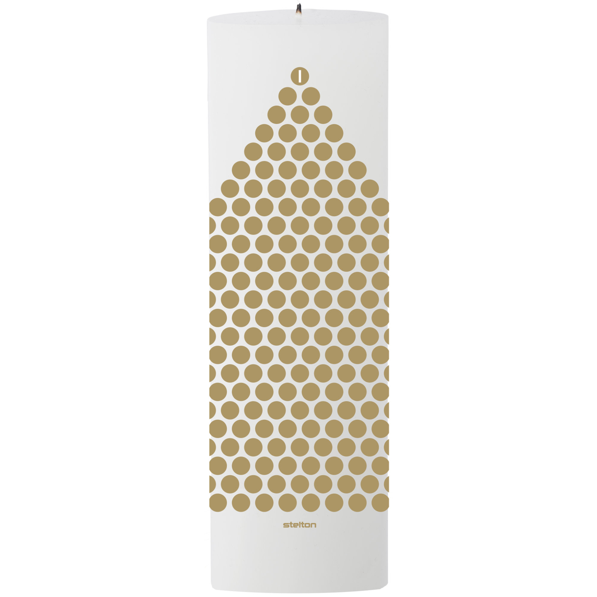 Stelton kalenderljus vit/guld
