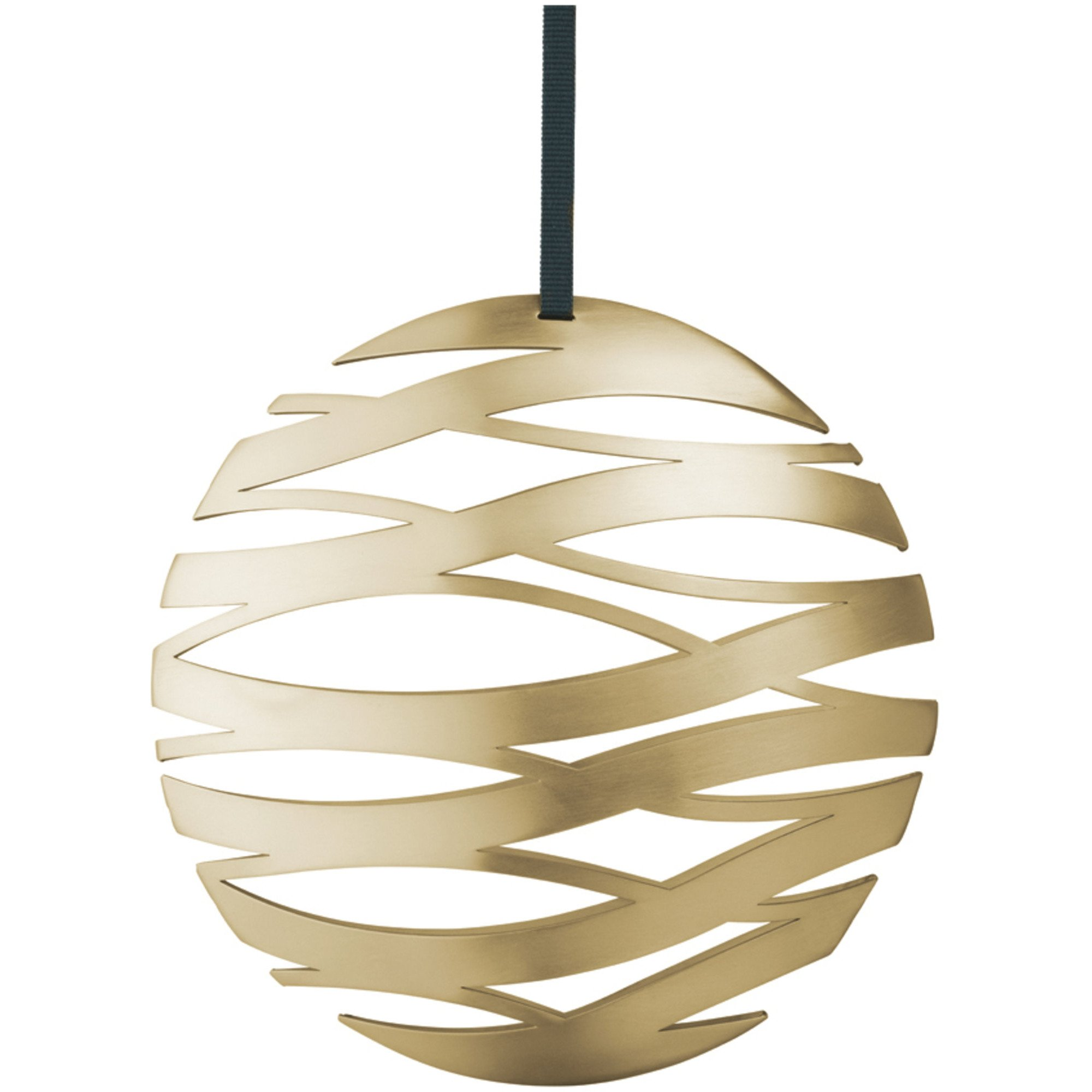 Stelton Tangle julornament boll, stor - mässing