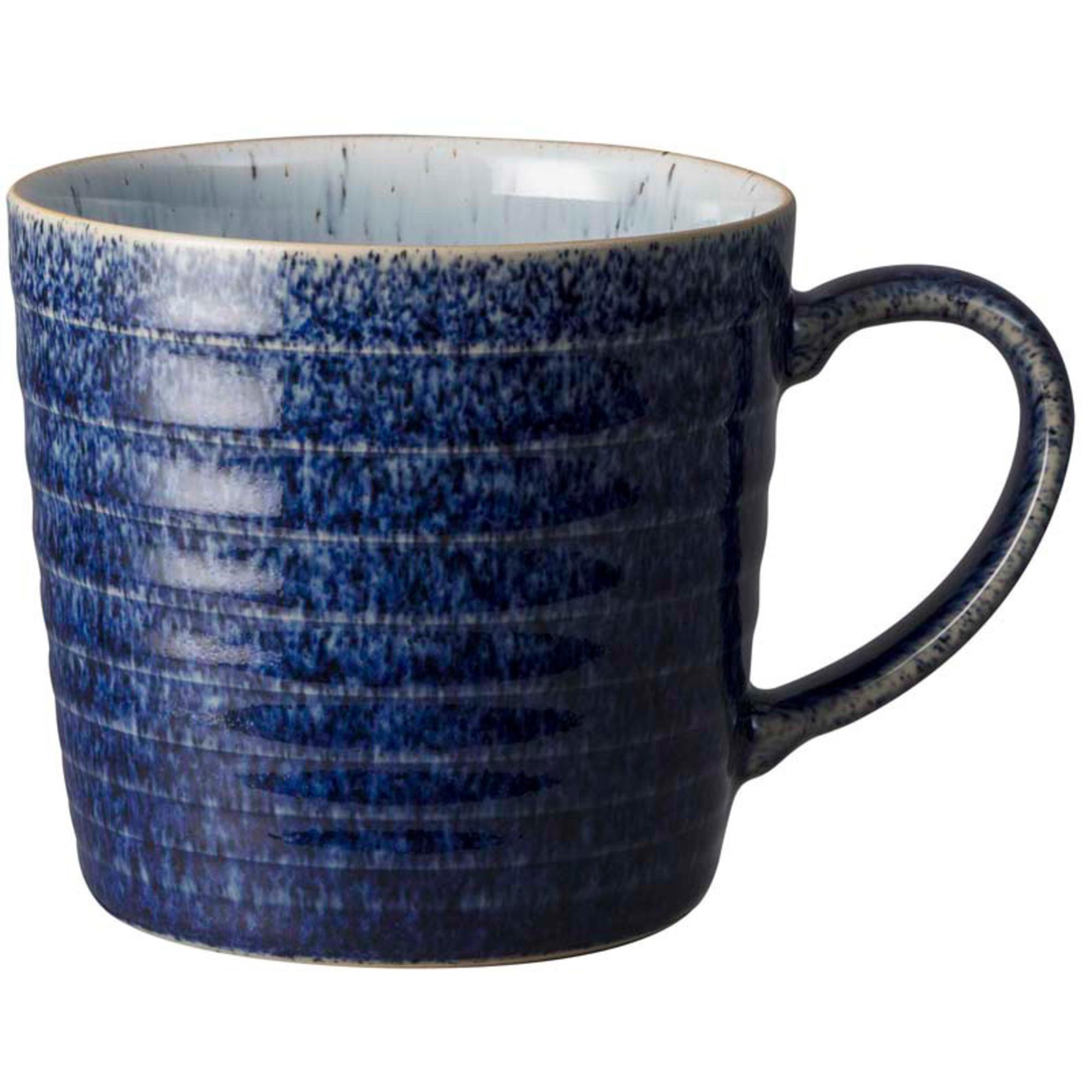 Denby Studio Blue Ridged Mugg 40 cl, Cobalt/ Pebbl
