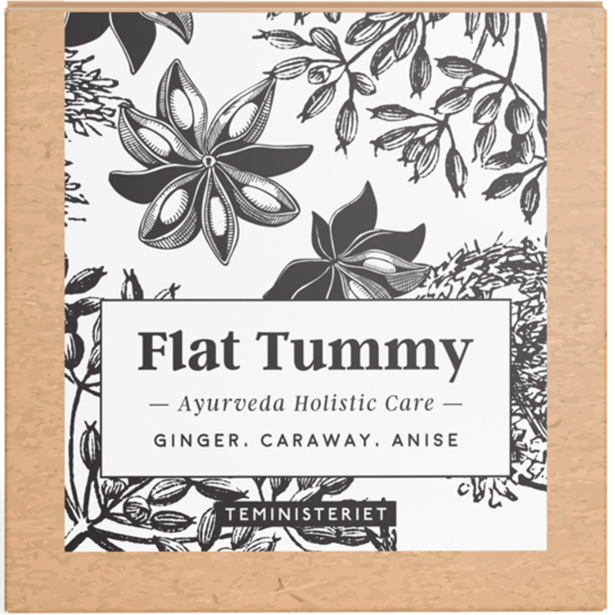 Teministeriet Ayurveda Flat Tummy tepåsar 100 g.