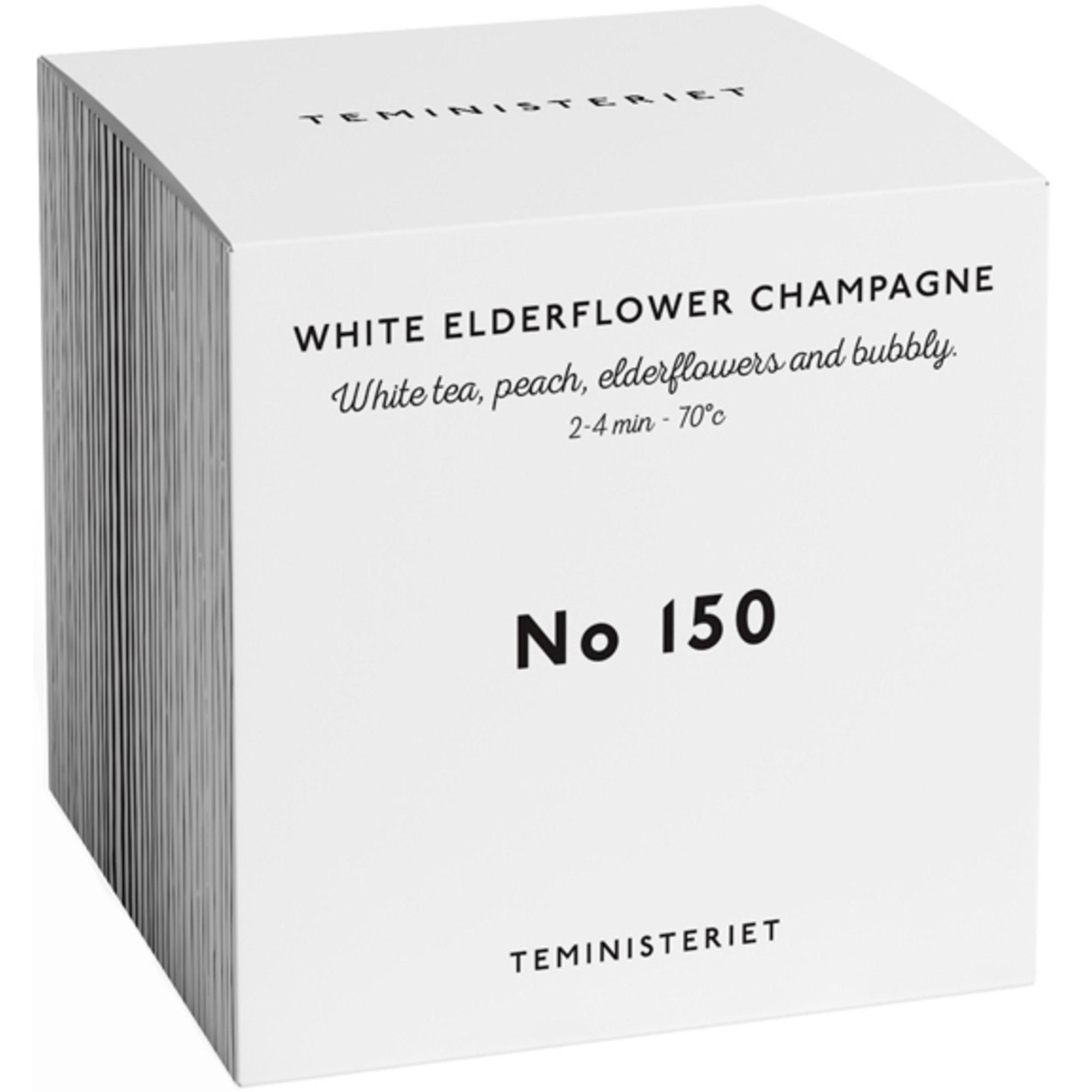 Teministeriet White Elderflower Champagne 50 g. låda