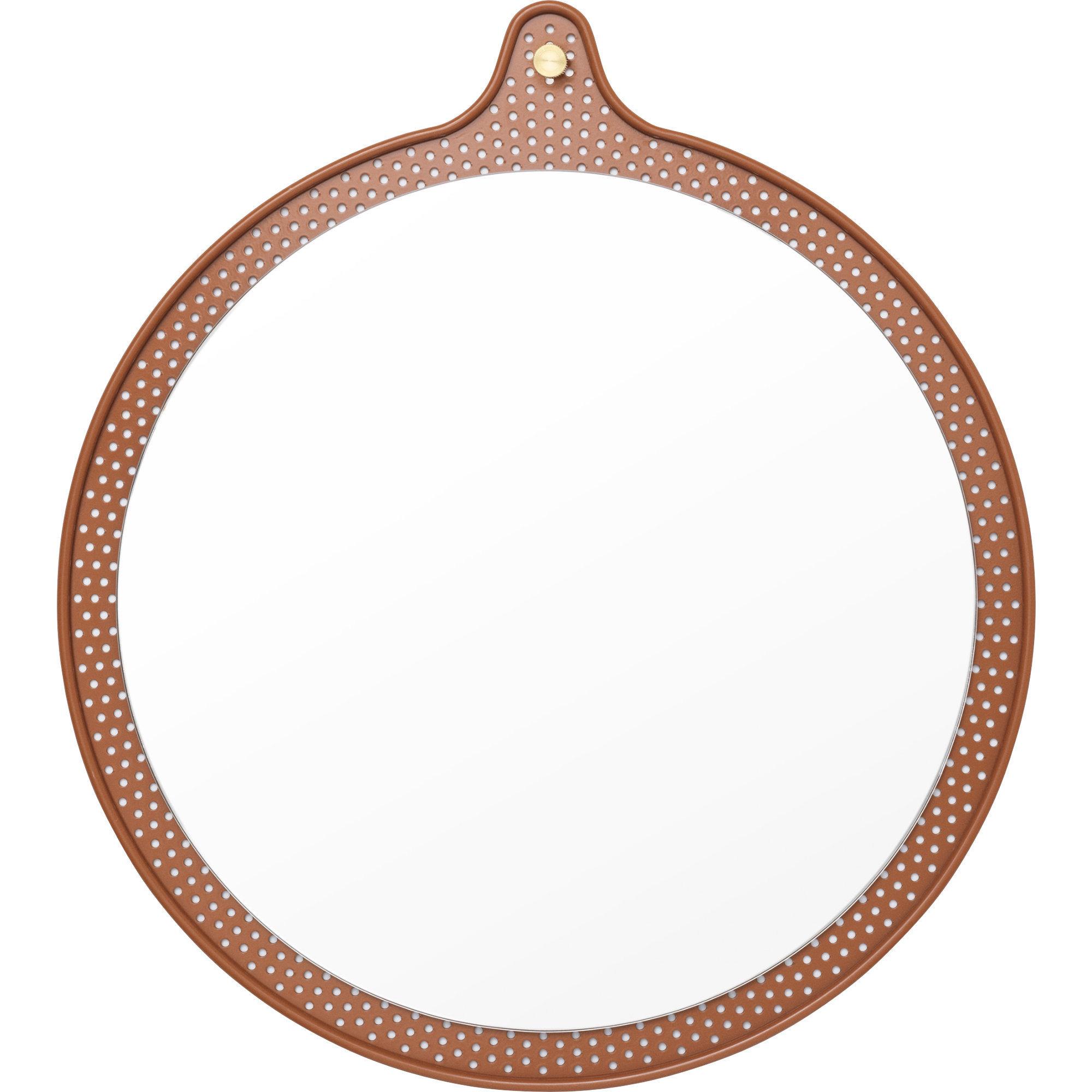 Normann Copenhagen Ticket Mirror Liten Ø 45 cm Caramel