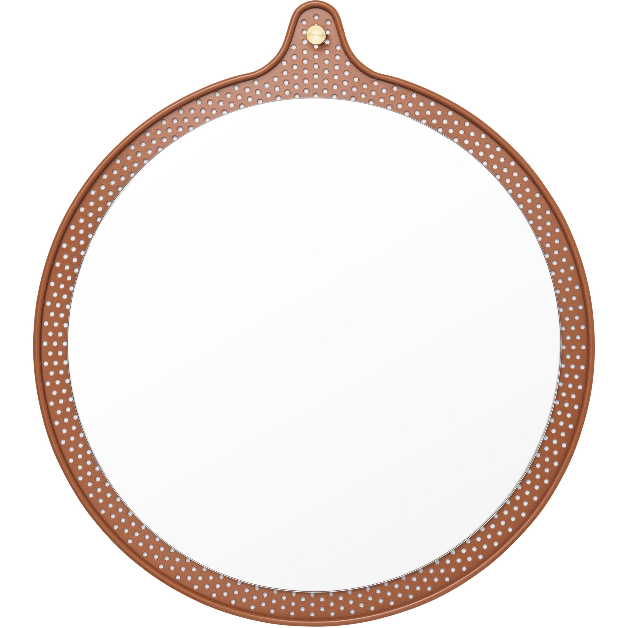 Normann Copenhagen Ticket Mirror Stor Ø 60 cm Caramel