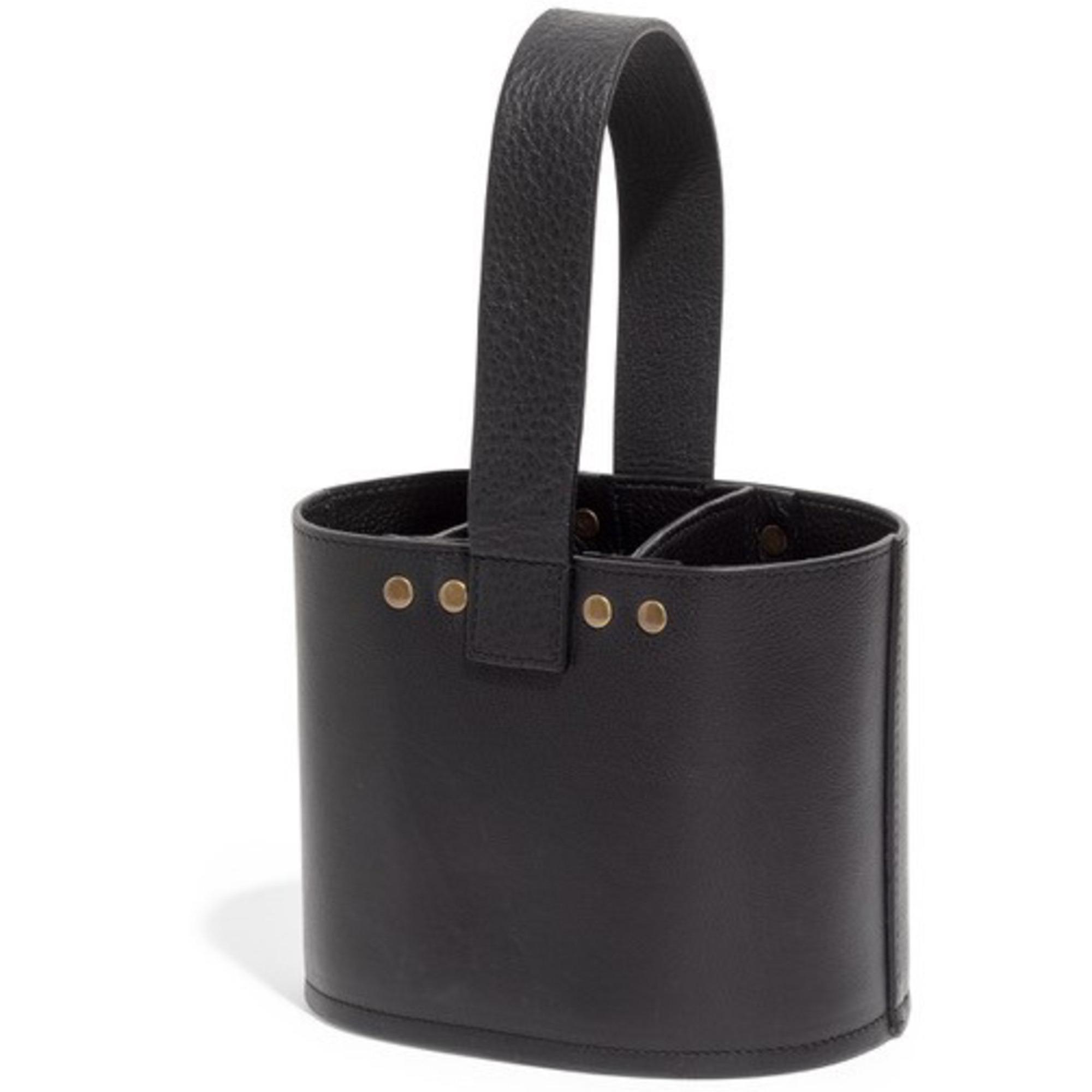Top Drawer Patmore Bestickhållare i läder svart
