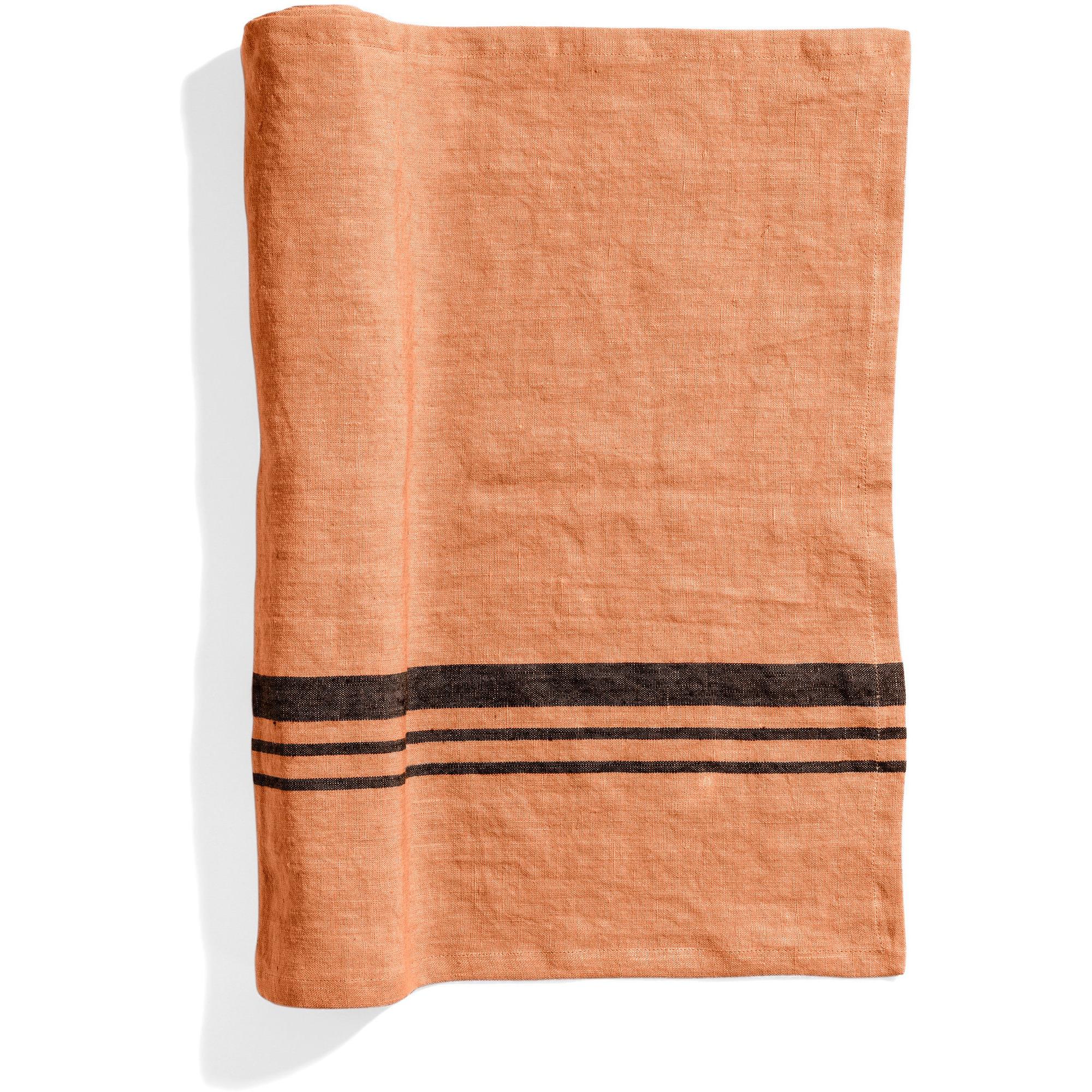 Top Drawer Bordslöpare LIFT i linné stripe Dry Terracotta