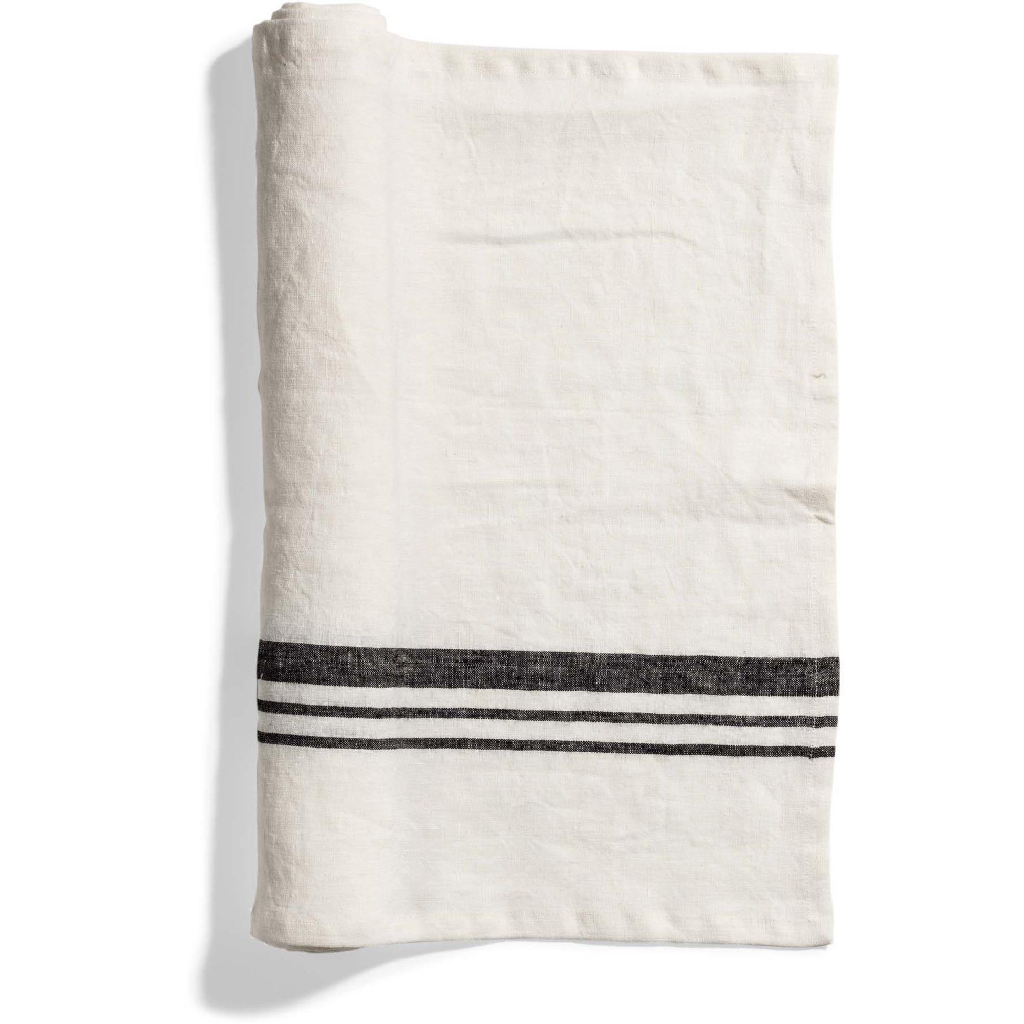 Top Drawer Bordslöpare LIFT i linné stripe Off White