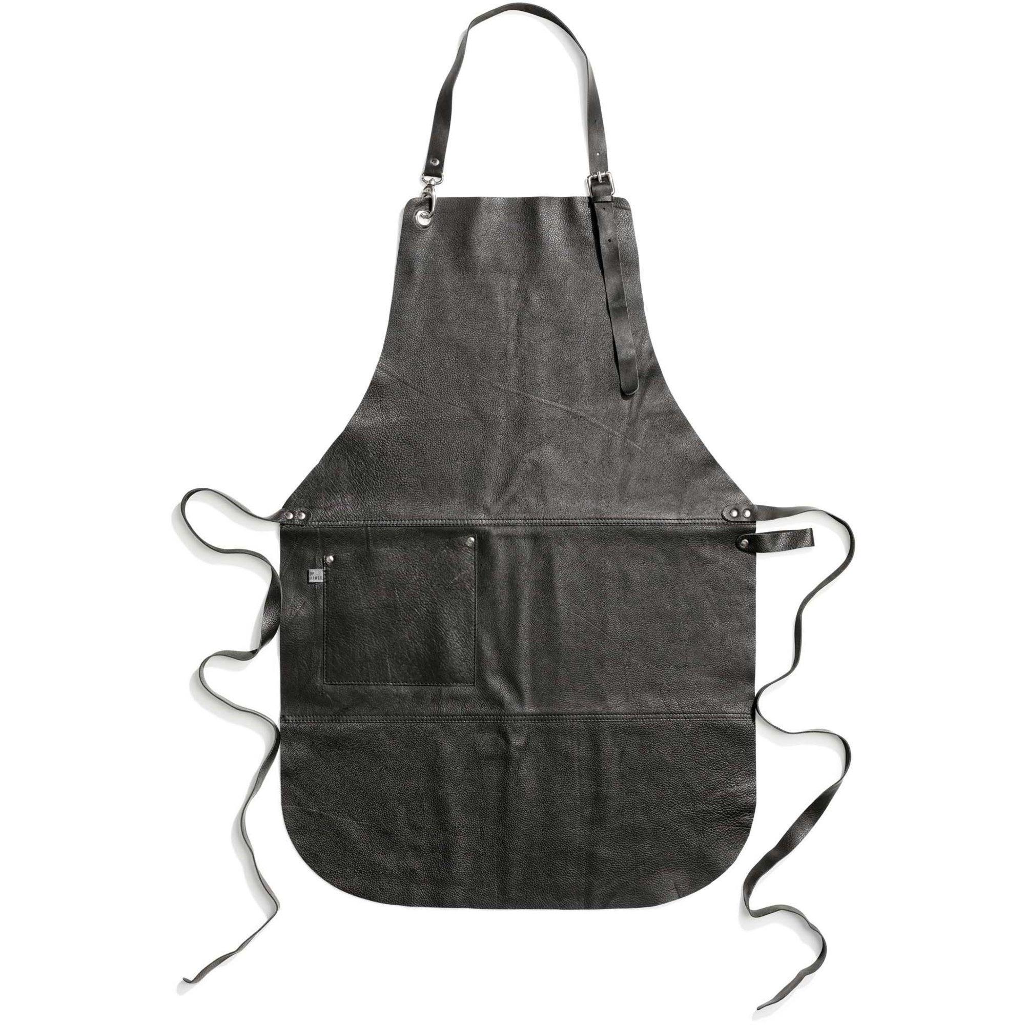 Top Drawer Förkläde PAUL-19 i läder Black