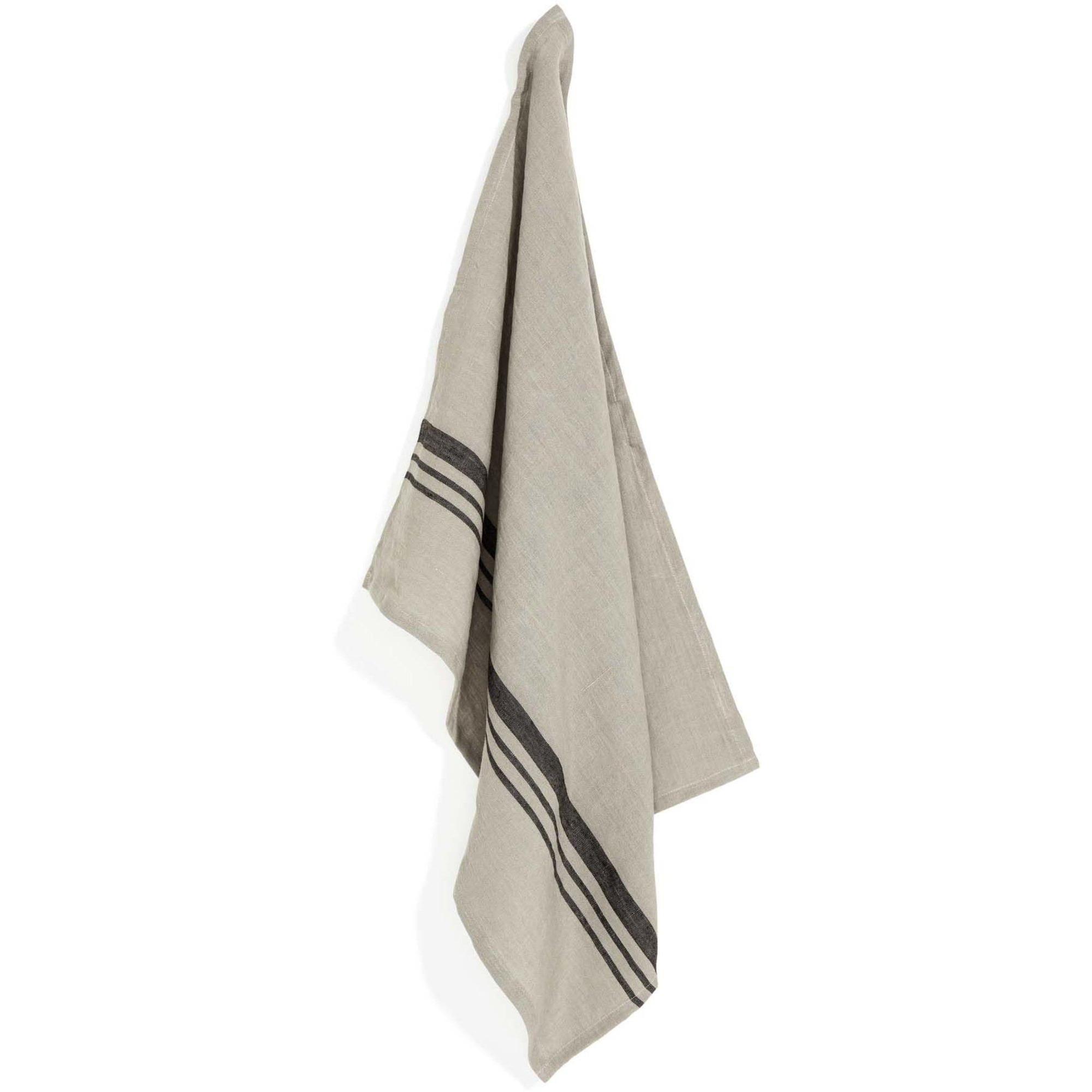 Top Drawer Kökshandduk LEARY i linné stripe Sage 2-pack