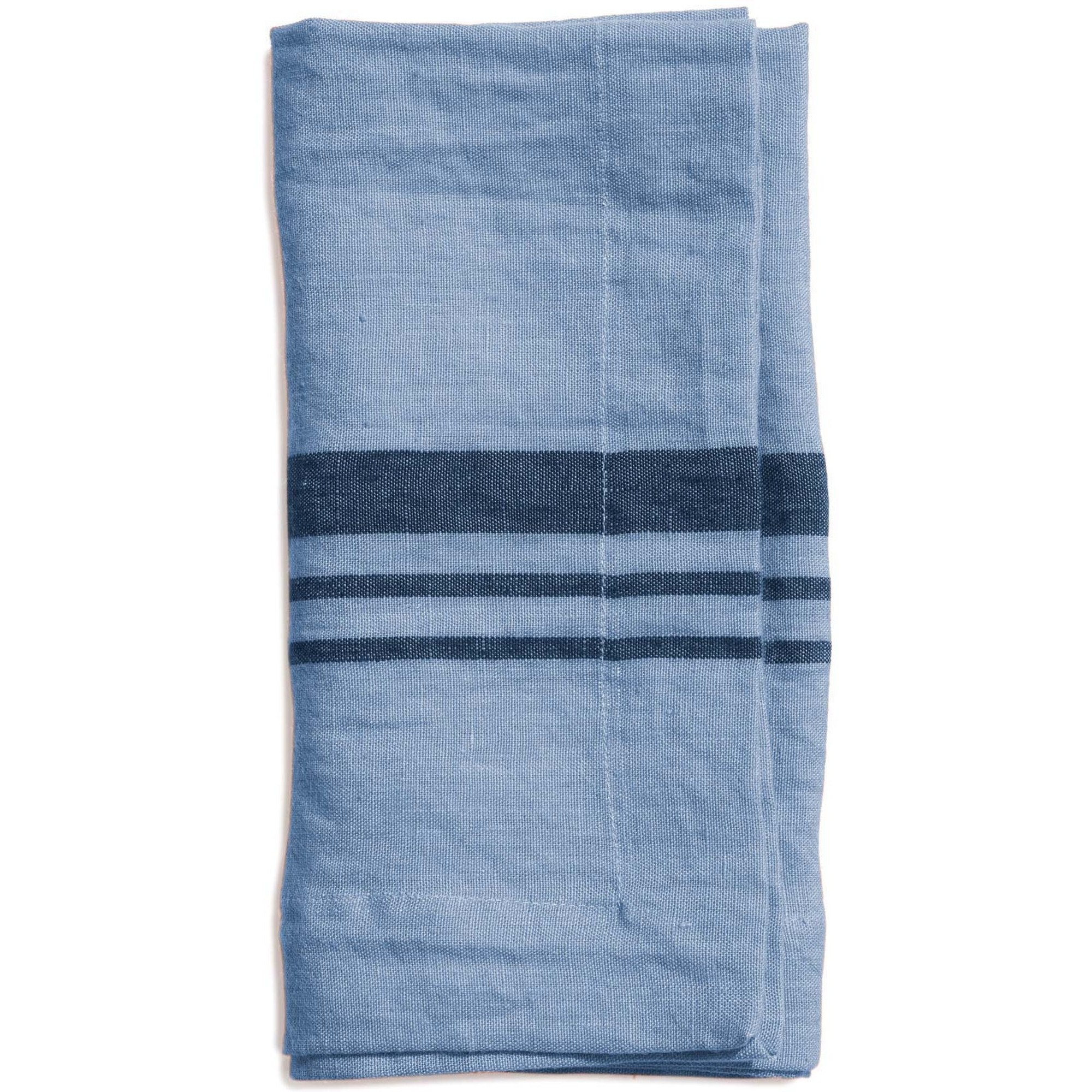 Top Drawer Servett LITTLEWOOD i linné stripe Misty Blue 4-pack