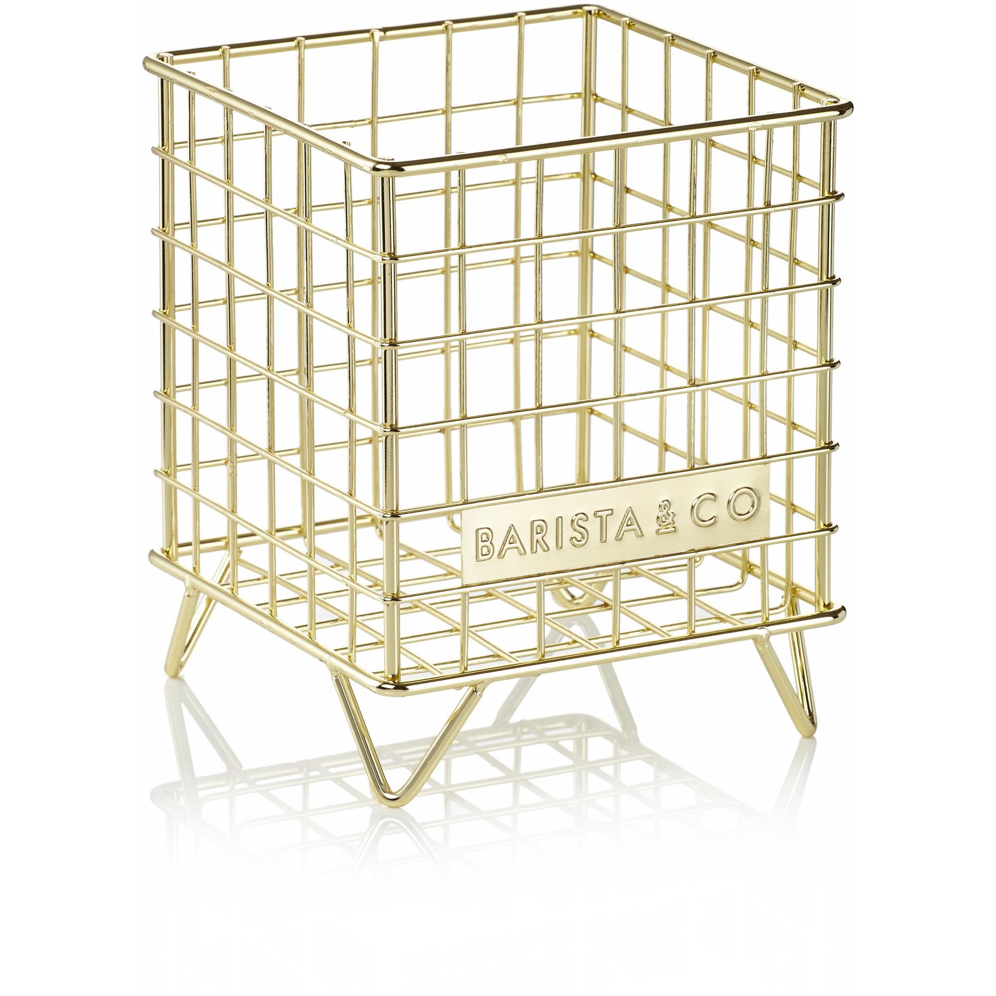 Barista & Co. Trådkorg till kapselförvaring guld