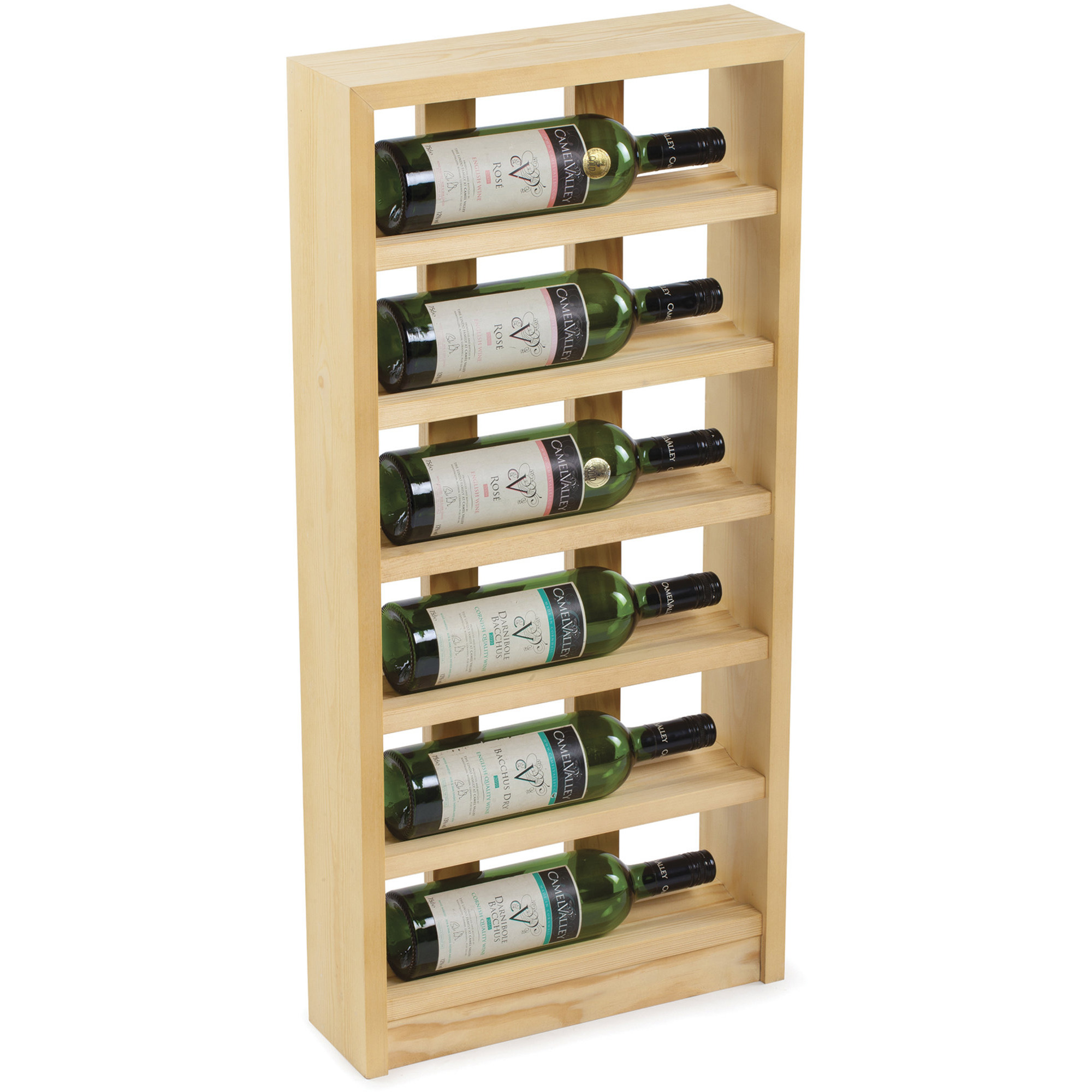 Traditional Wine Racks Vinställ 6 Flaskor Light oak