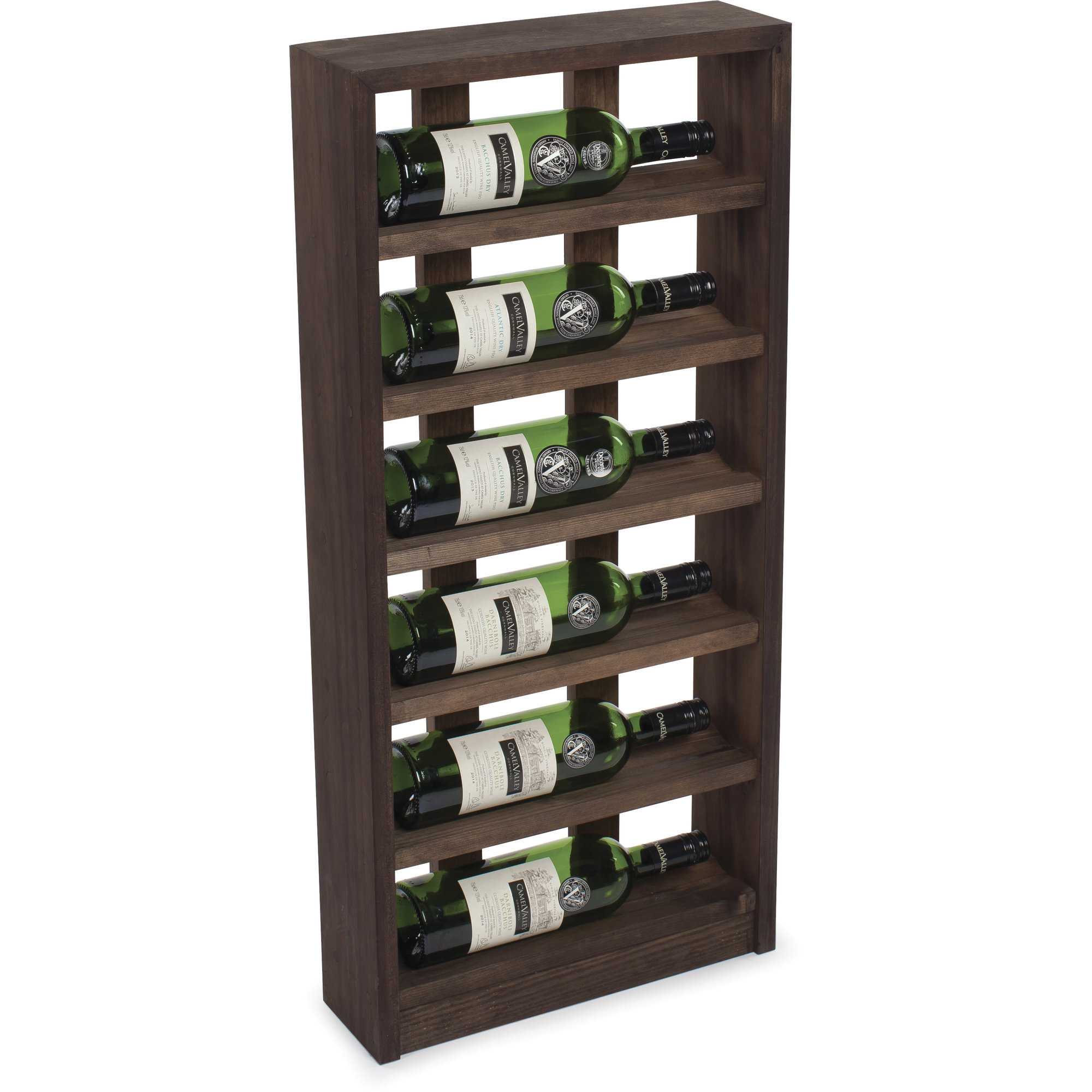 Traditional Wine Racks Vinställ 6 Flaskor Dark oak