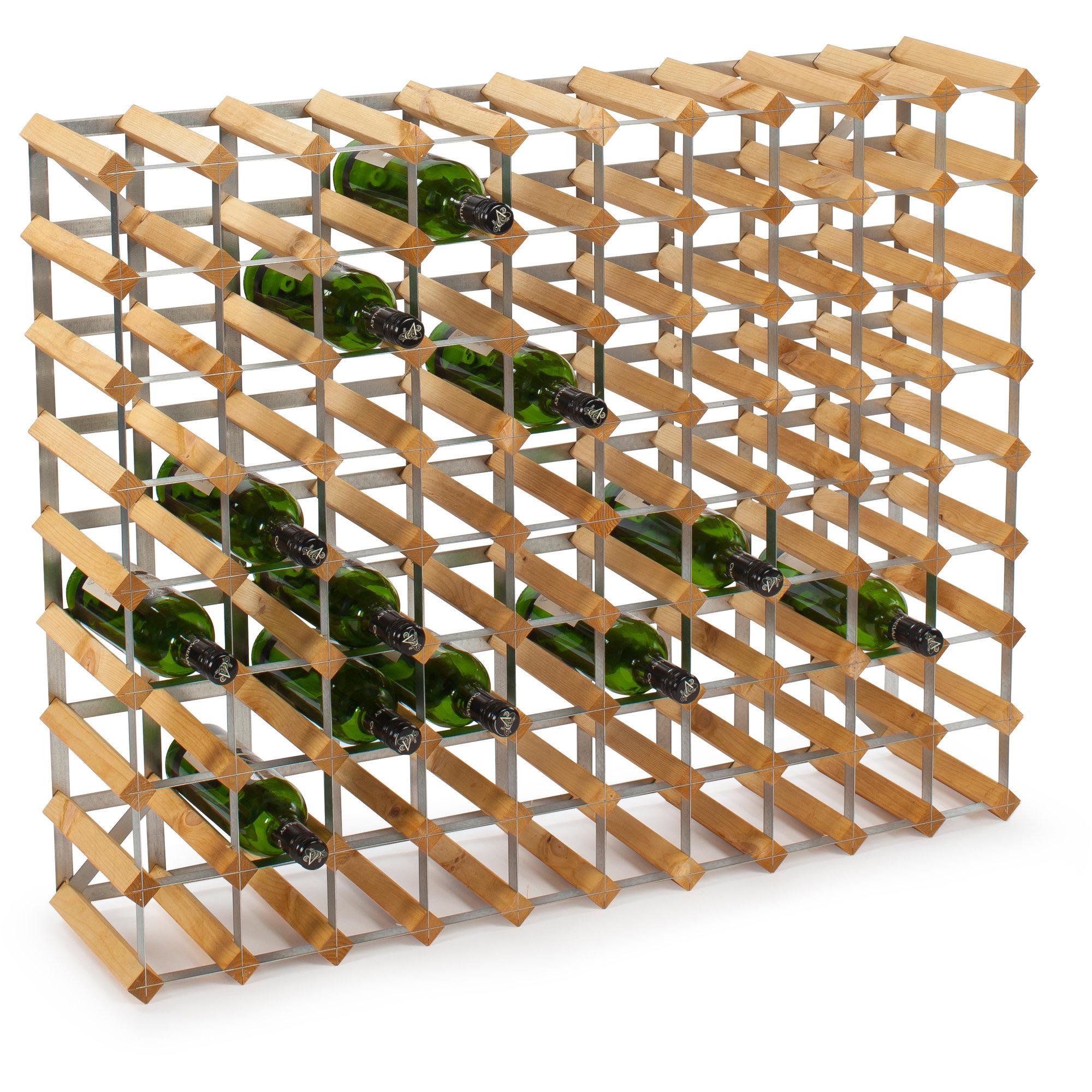Traditional Wine Racks Vinställ Påbyggnadsbart 90 Flaskor Light oak