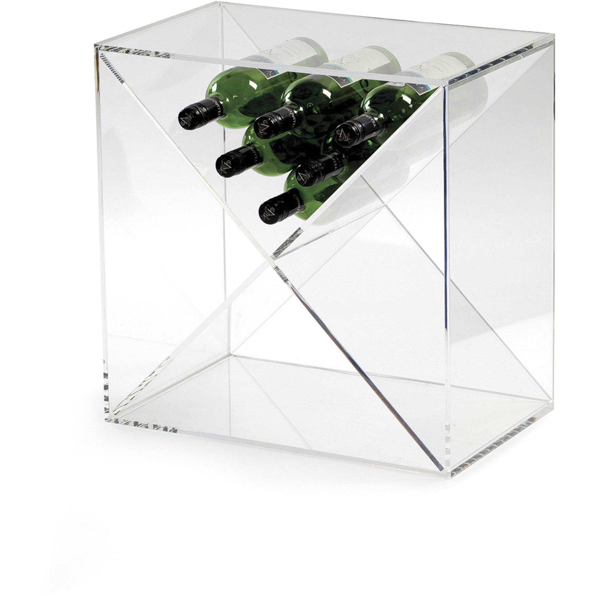 Traditional Wine Racks Kub för 24 Flaskor Acrylic