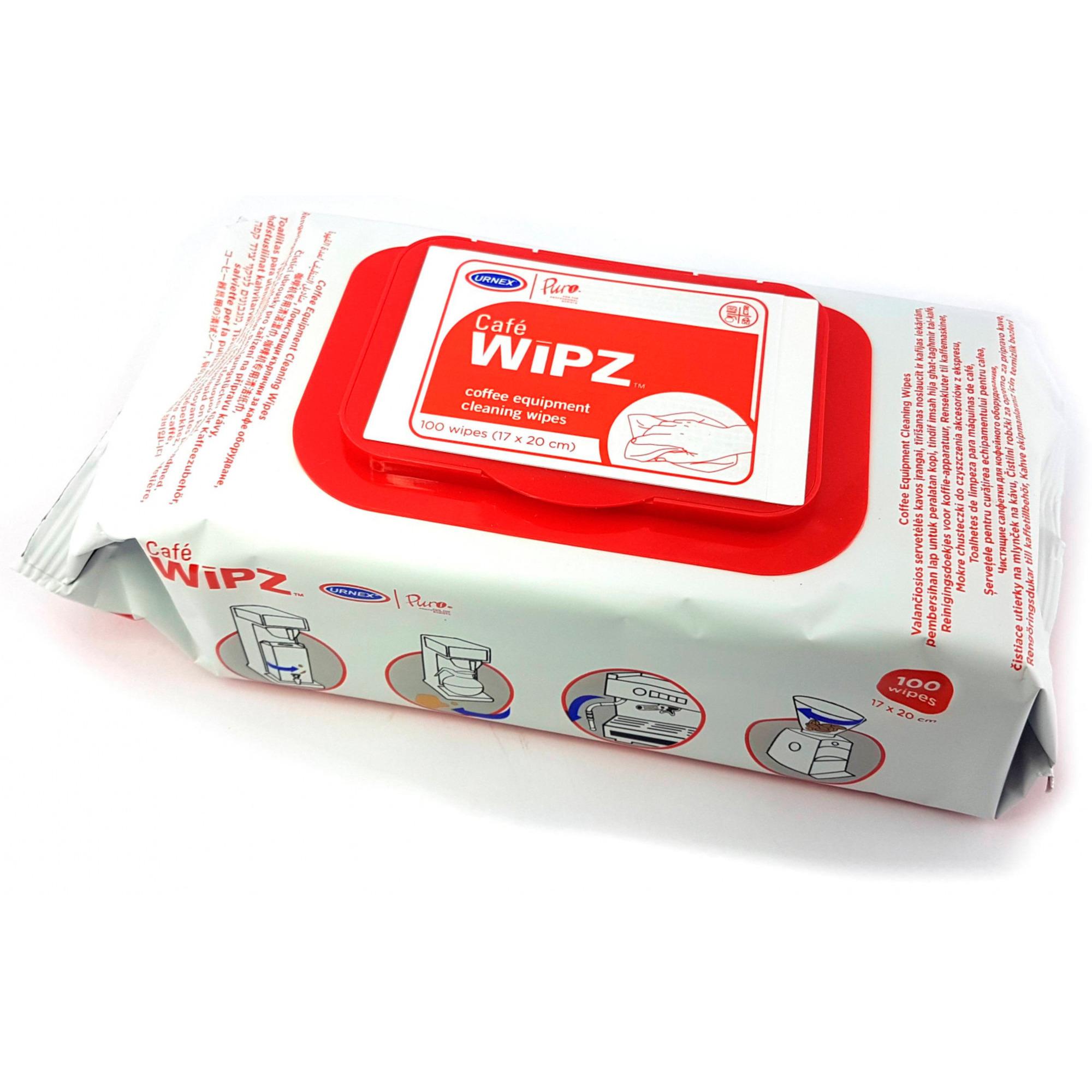 Urnex Café WIPZ Rengöringsservetter 100 st
