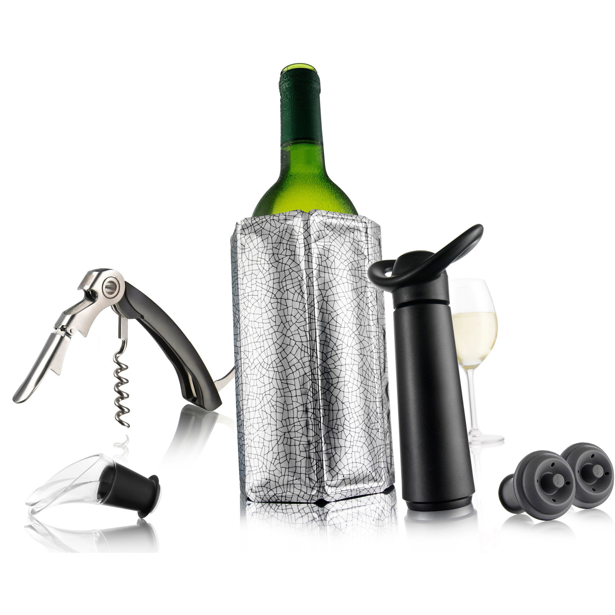 Vacu Vin Wine Essentials Gift set Silver